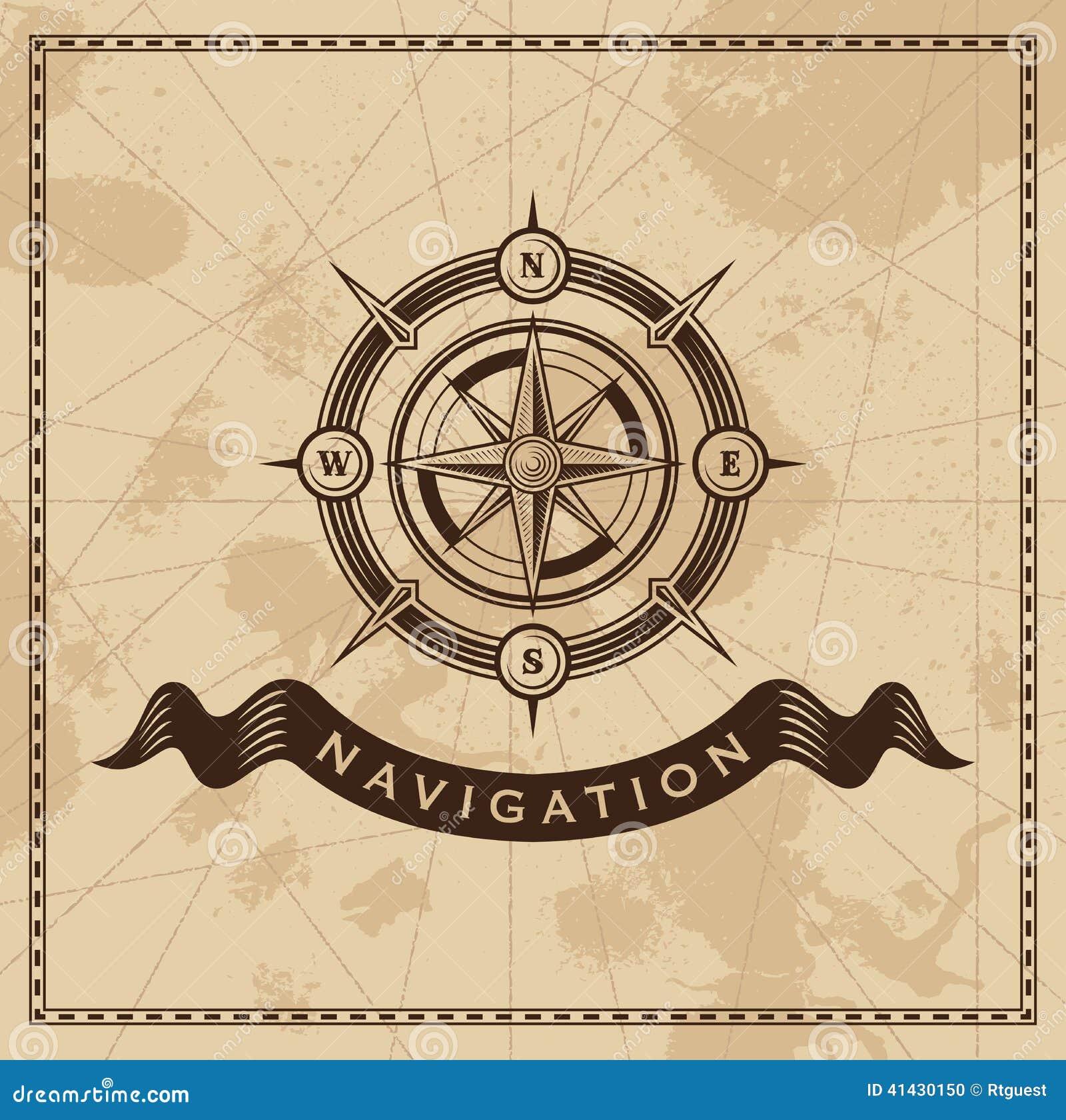 Viento Rose Nautical Compass del vintage