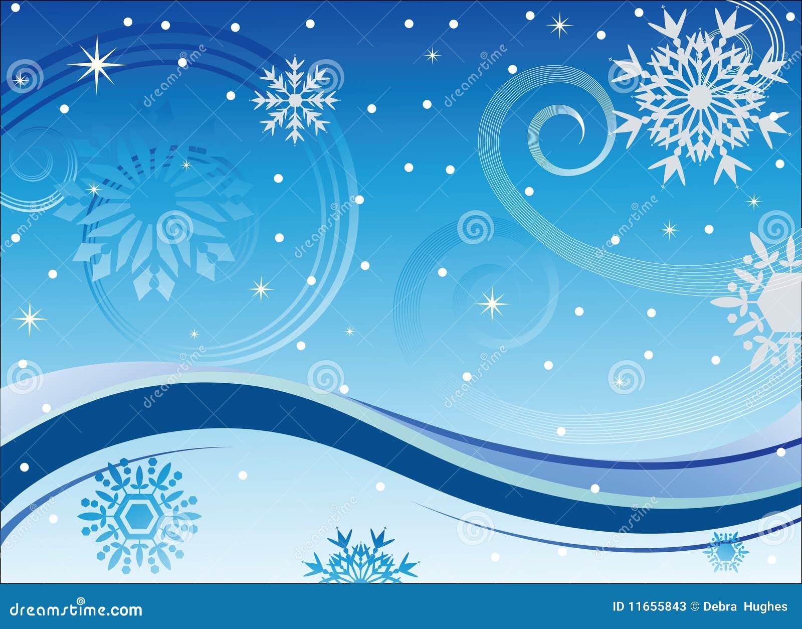 Viento y copos de nieve del invierno