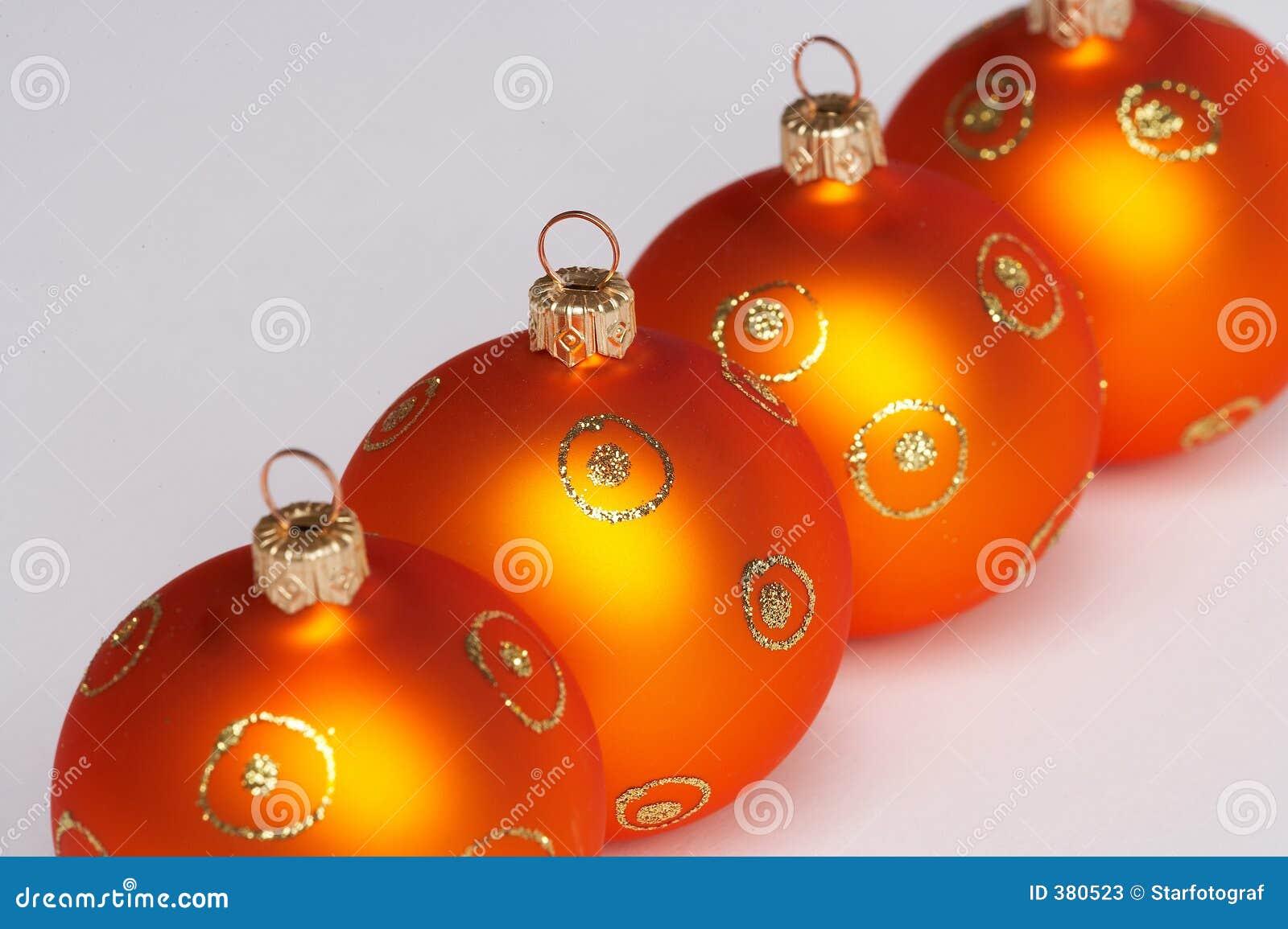 Vier ballen van de Kerstmisboom