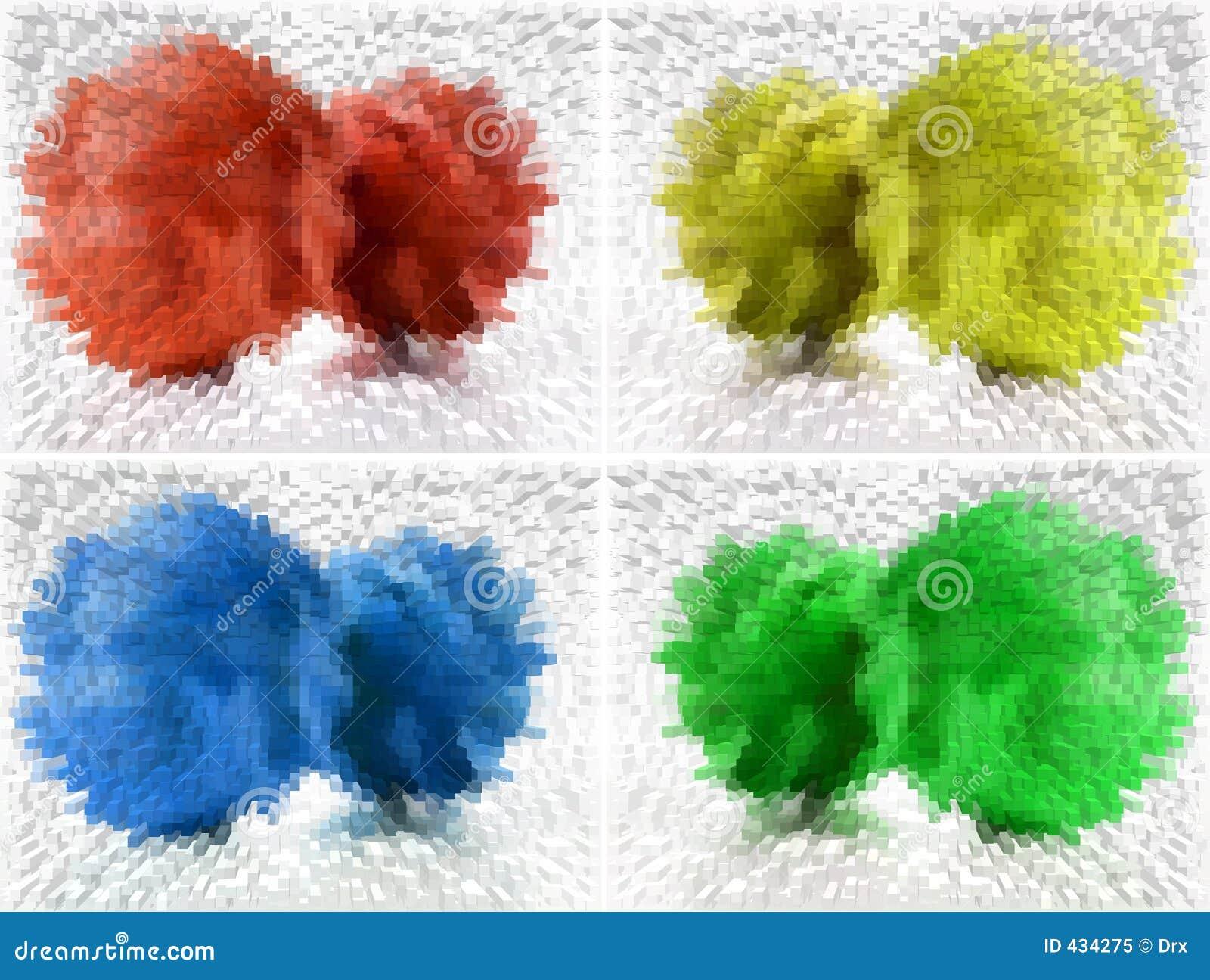 Vier Farben entziehen Hintergrund