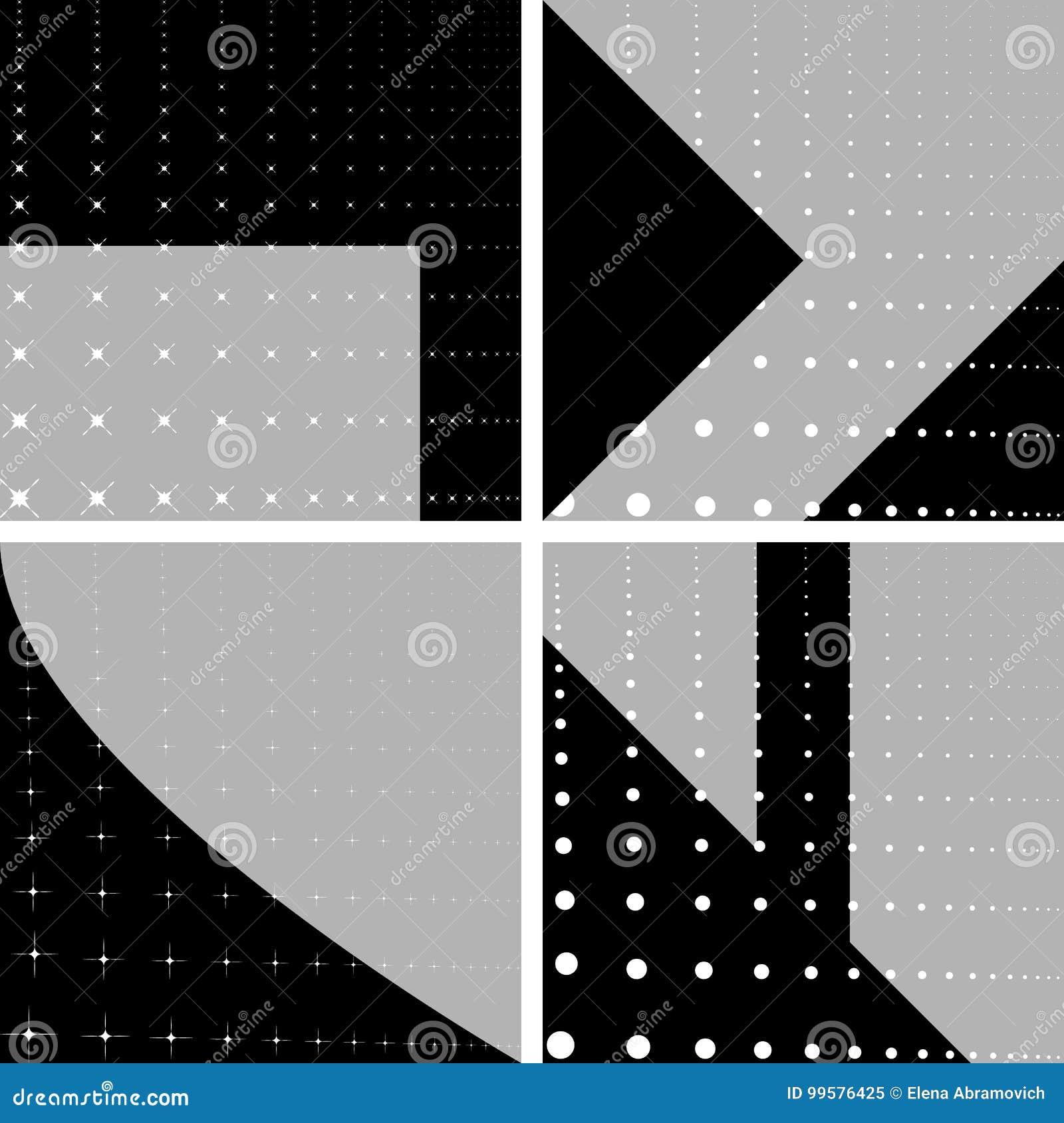 Vier geometrische achtergronden