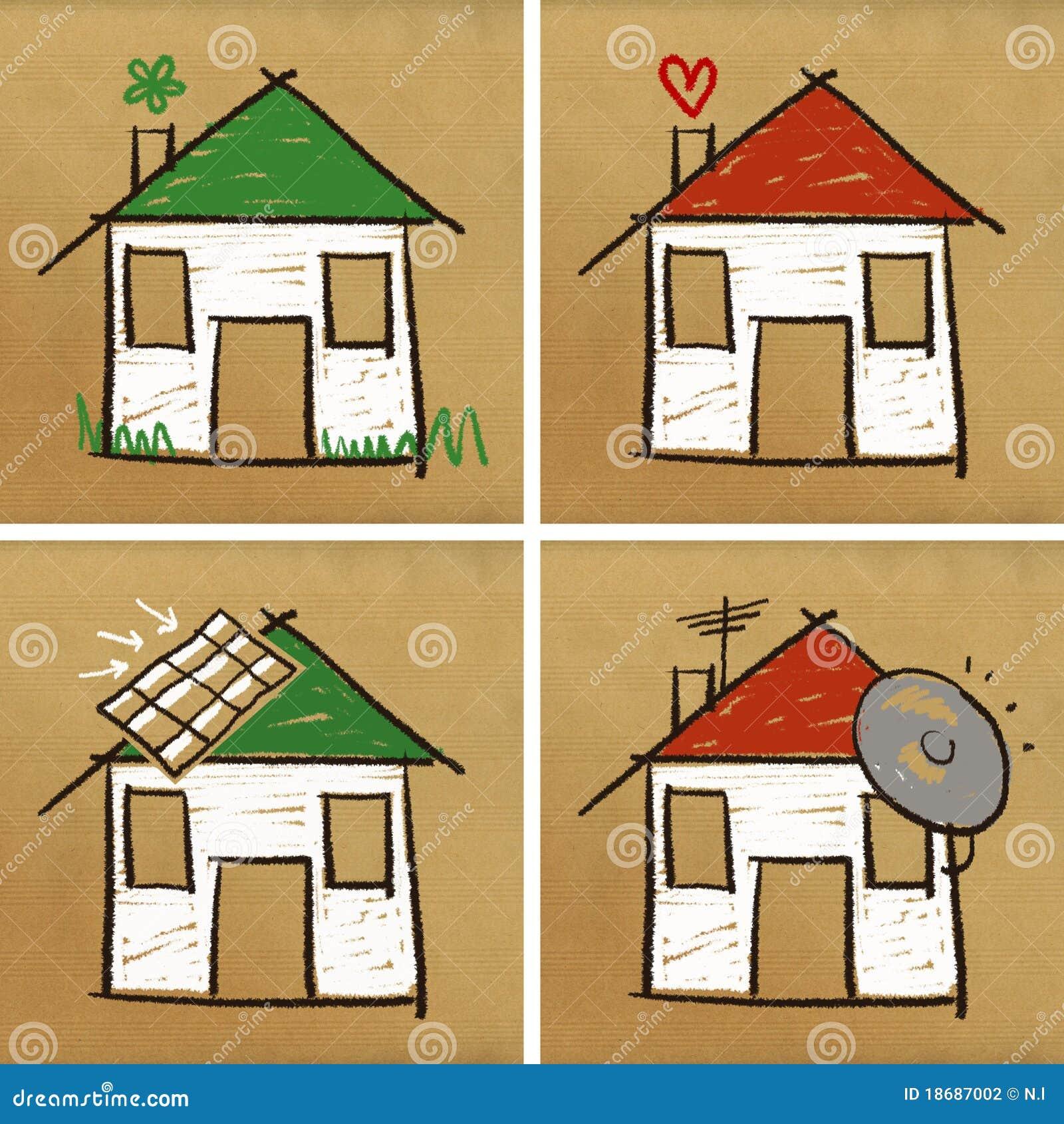 Haus Bild: Vier Häuser U. Haus
