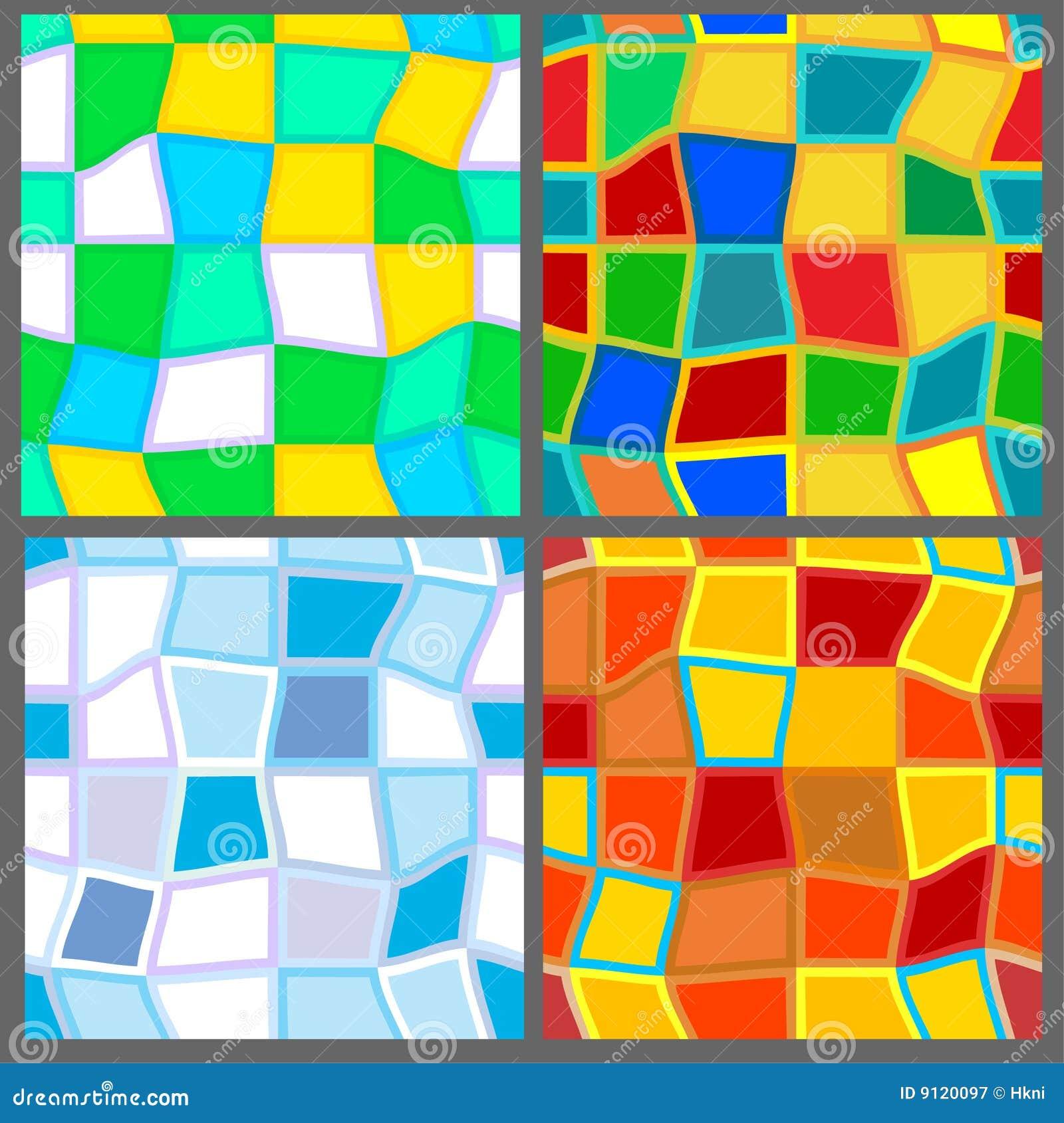 vier jahreszeiten 4 nahtlose muster vektor abbildung