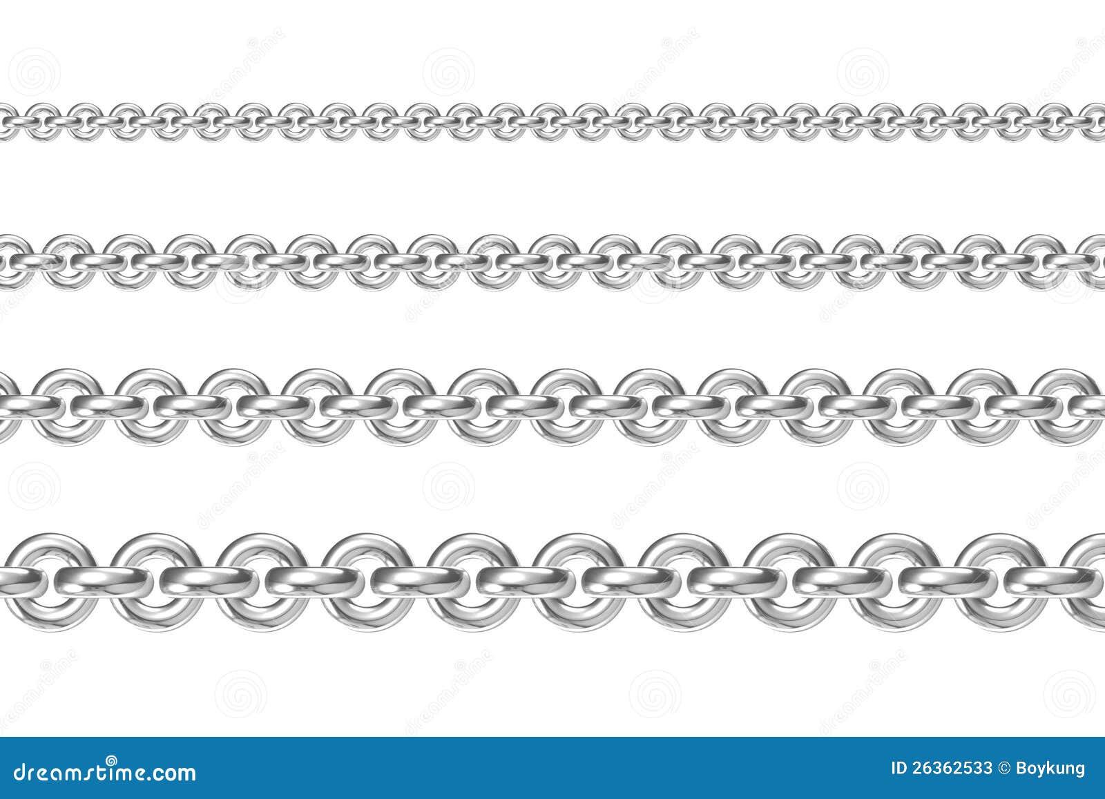 Vier Ketten zueinander parallel