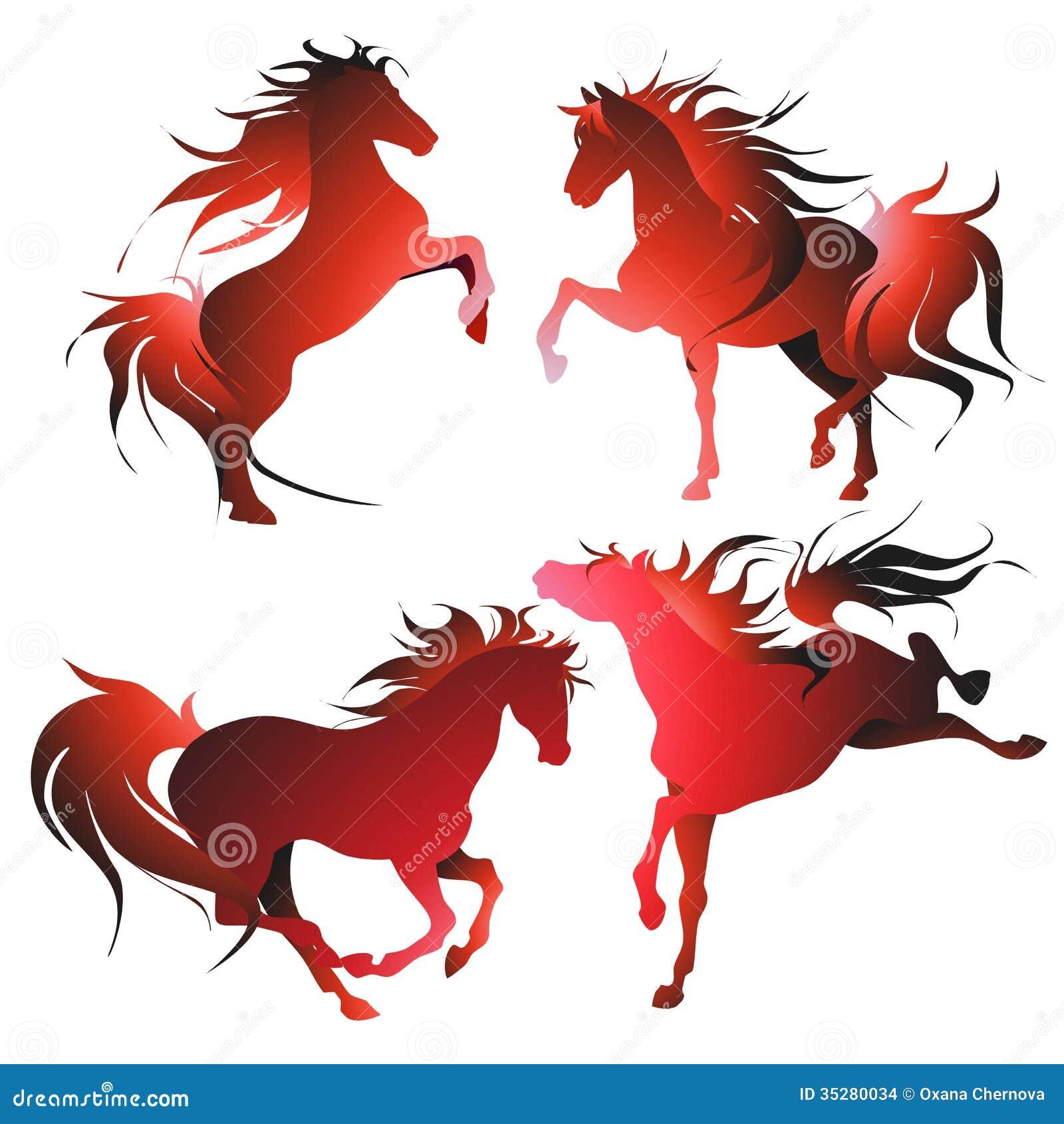 Vier Pferde in