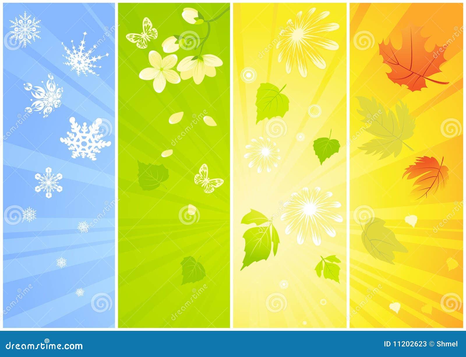 Vier Saisonhintergründe