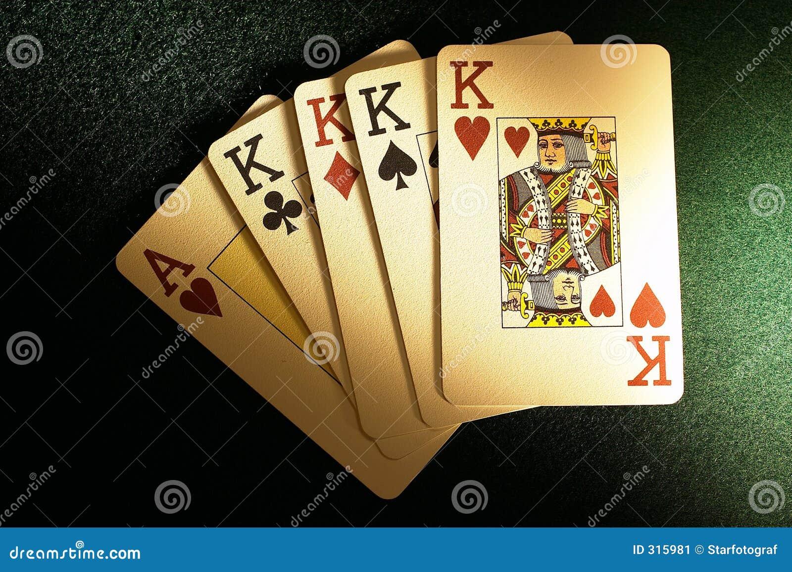 Vier Schürhakenkarten