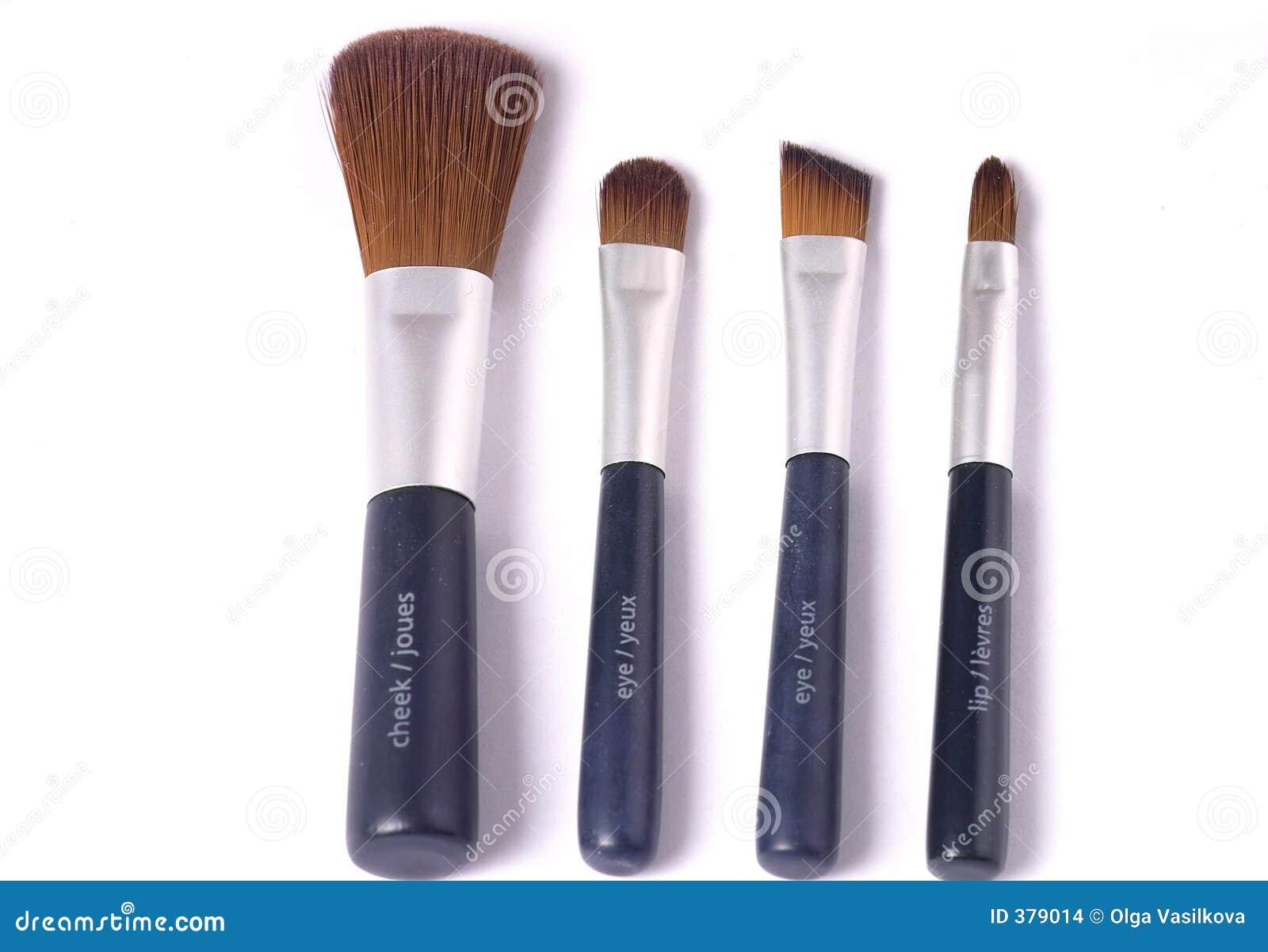 Vier schoonheidsborstels
