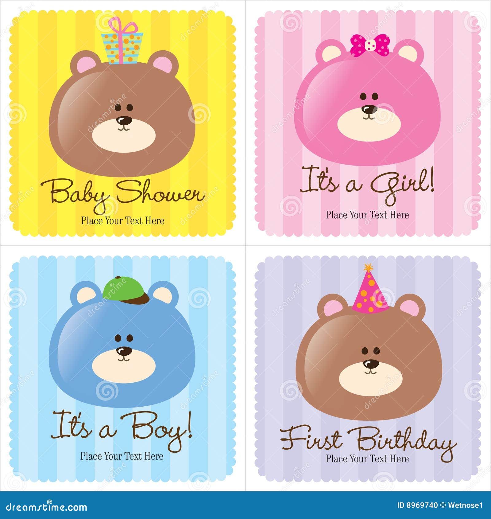 Vier sortierte Schätzchen-Karten