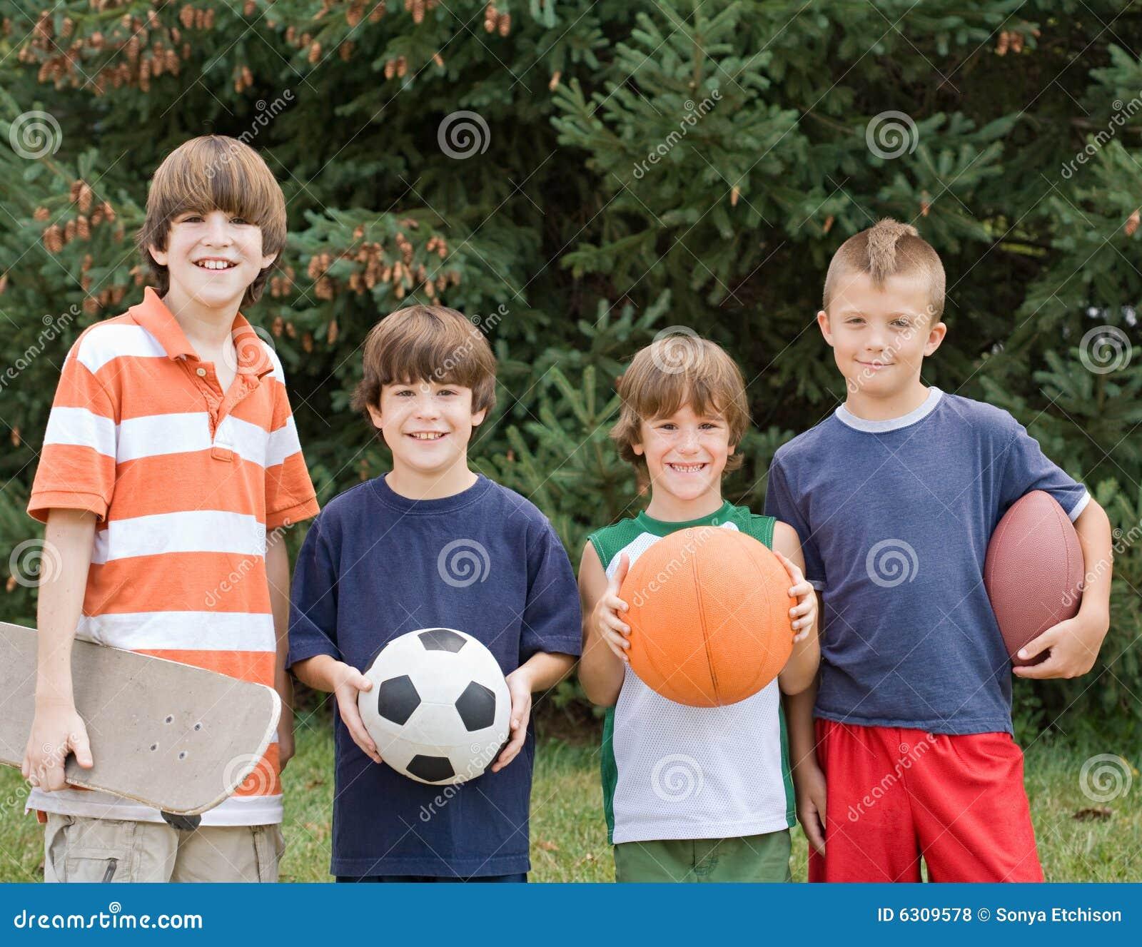 Vier unterschiedlicher Sport