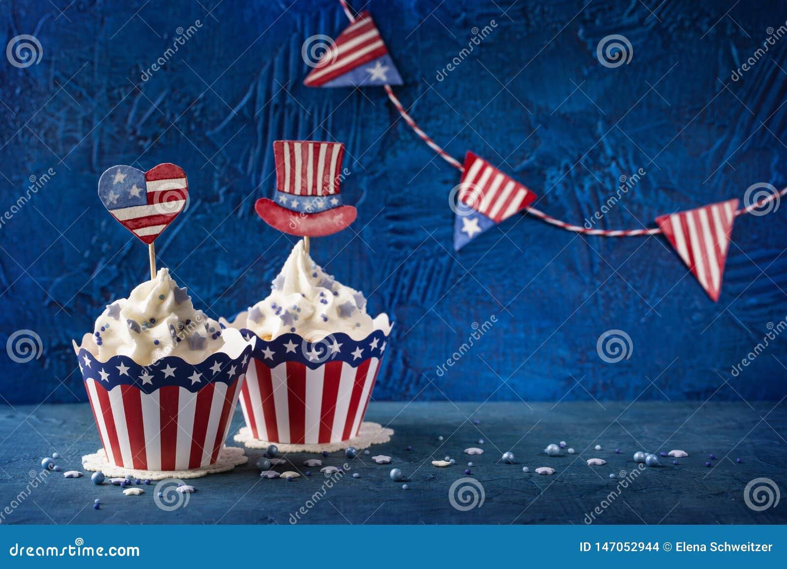 Vierde van Juli cupcakes