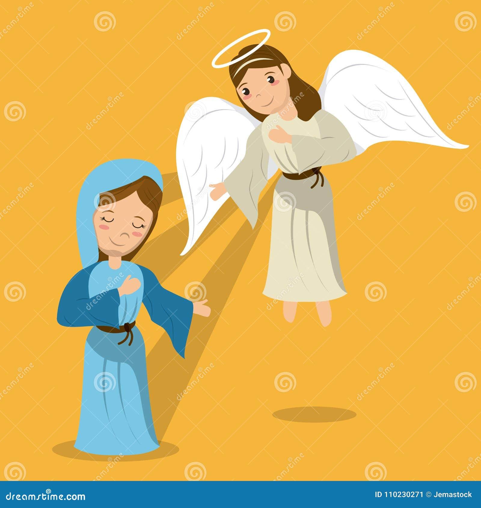 Vierge Marie avec la scène d annonce d ange