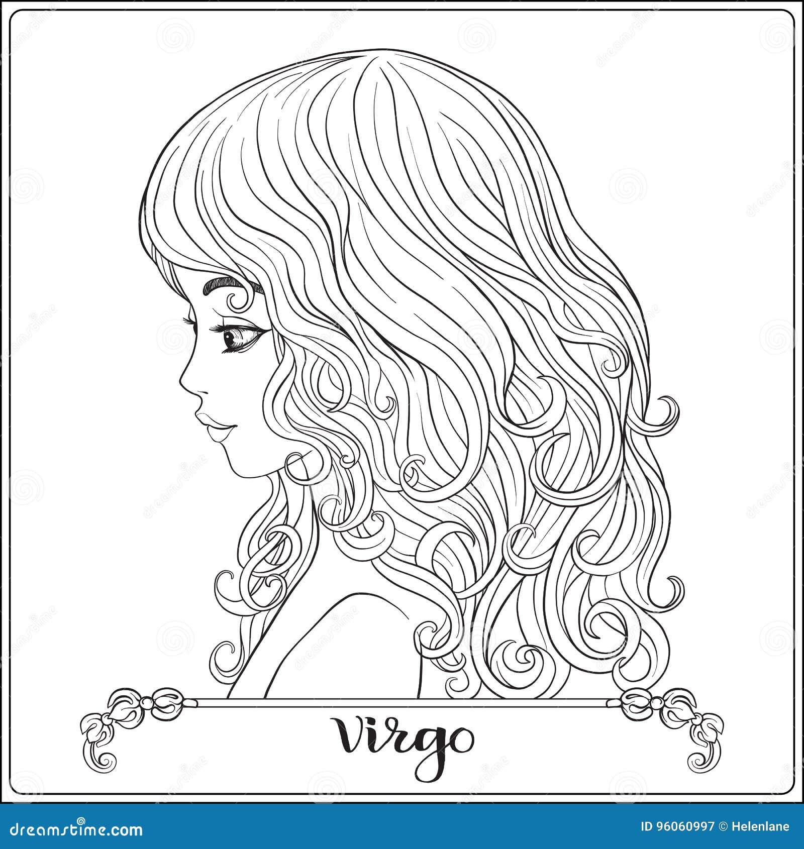 Vierge Une jeune belle fille sous forme d un des signes