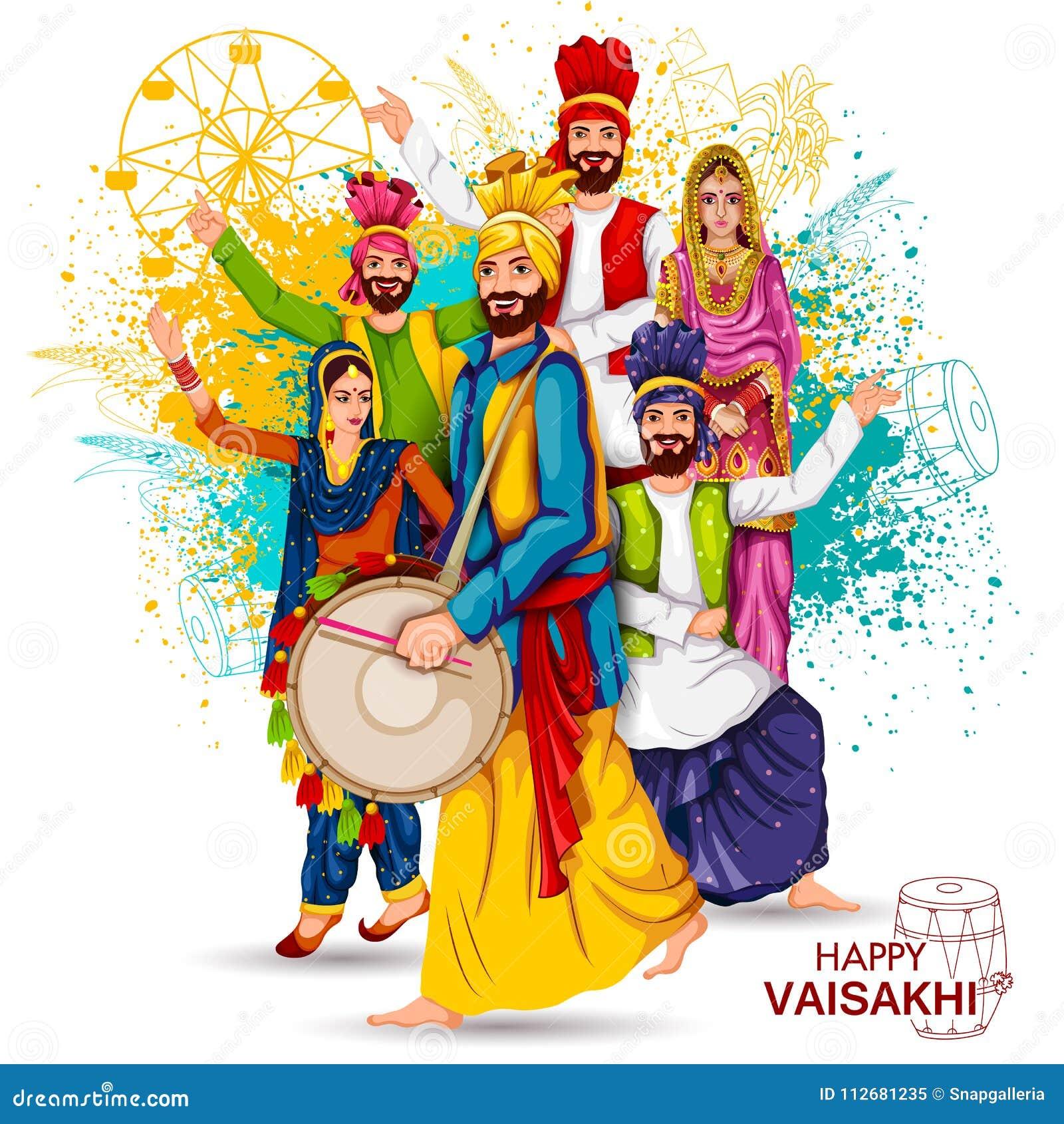 Viering van Punjabi-de achtergrond van festivalvaisakhi