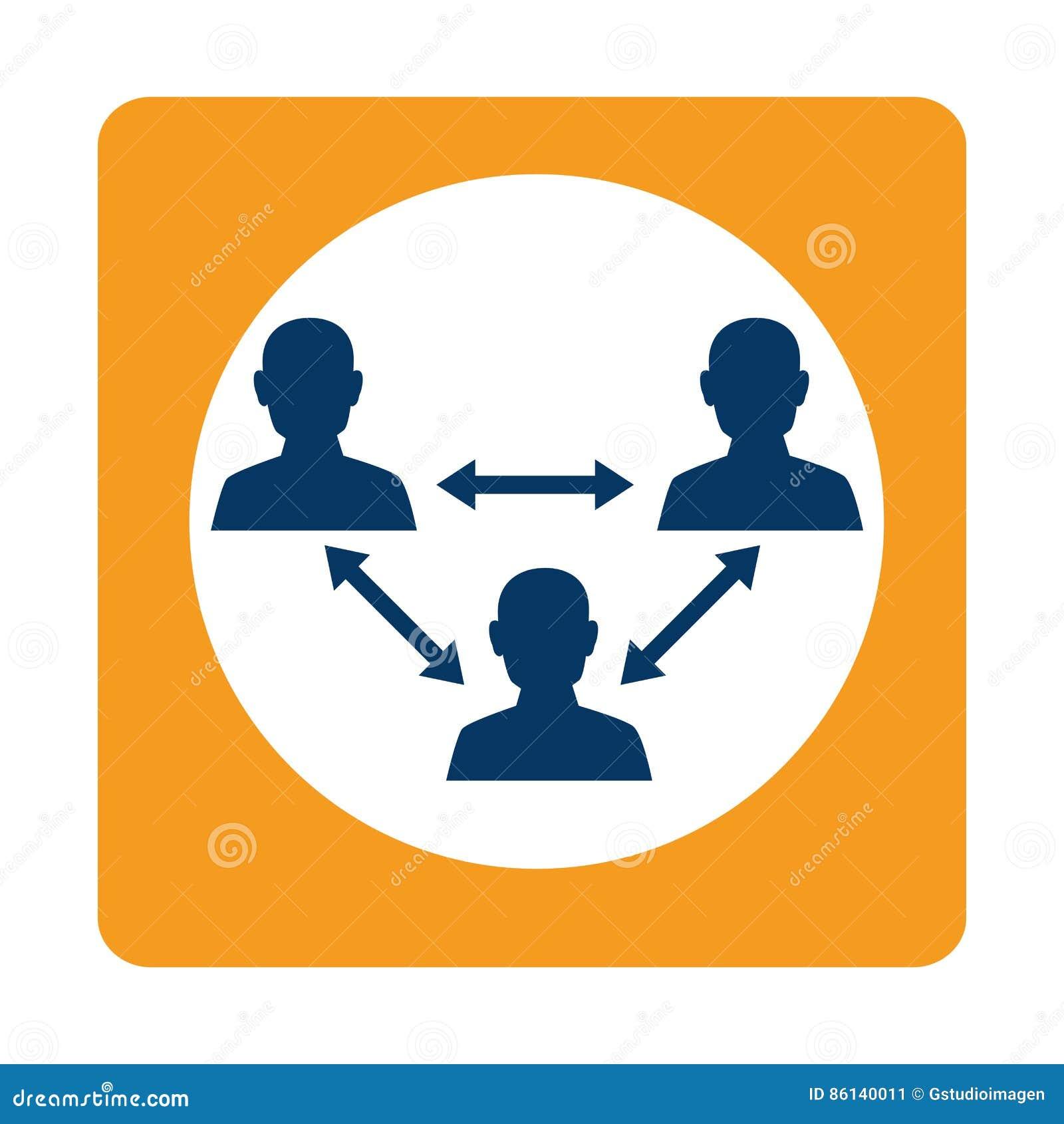 Vierkant groepswerk voor zaken in vergadering