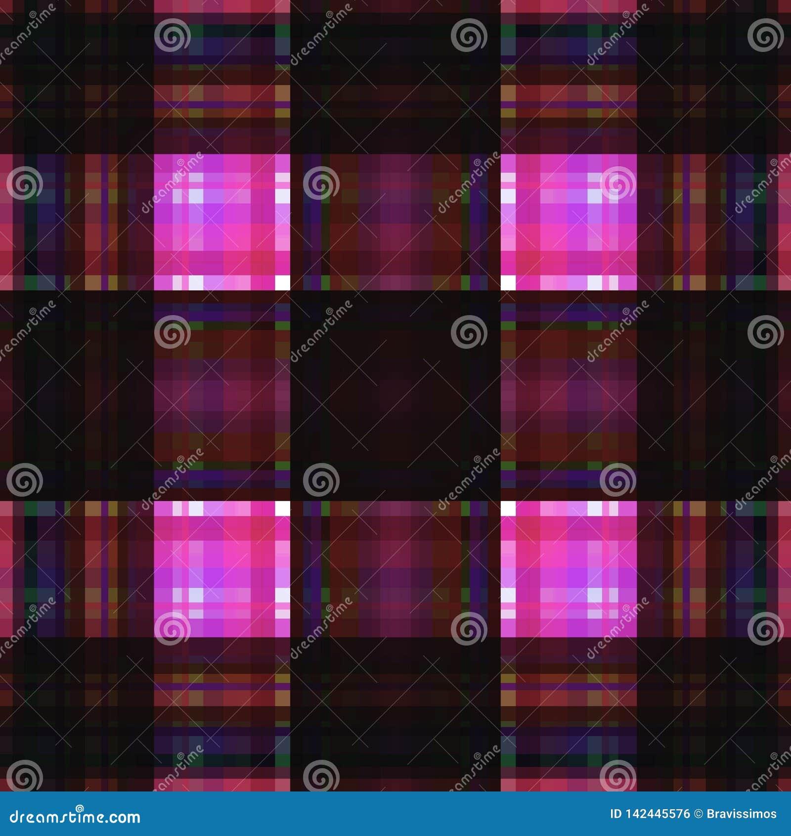 Vierkant hypnotic patroon, geometrische illusie De textuur van de kunst Een abstracte achtergrond, een groene appel in stijl grun