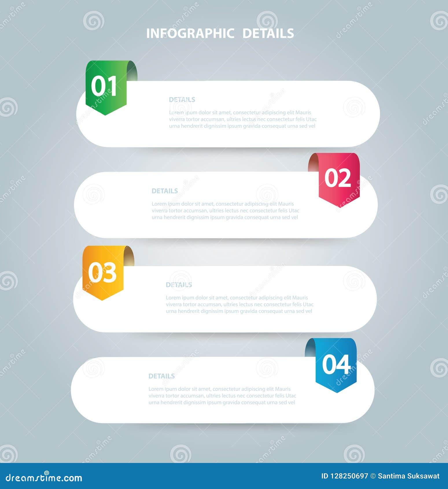 Vierkant informatie grafisch Vectormalplaatje met 4 opties Kan voor Web, diagram, grafiek, presentatie, grafiek, rapport worden g