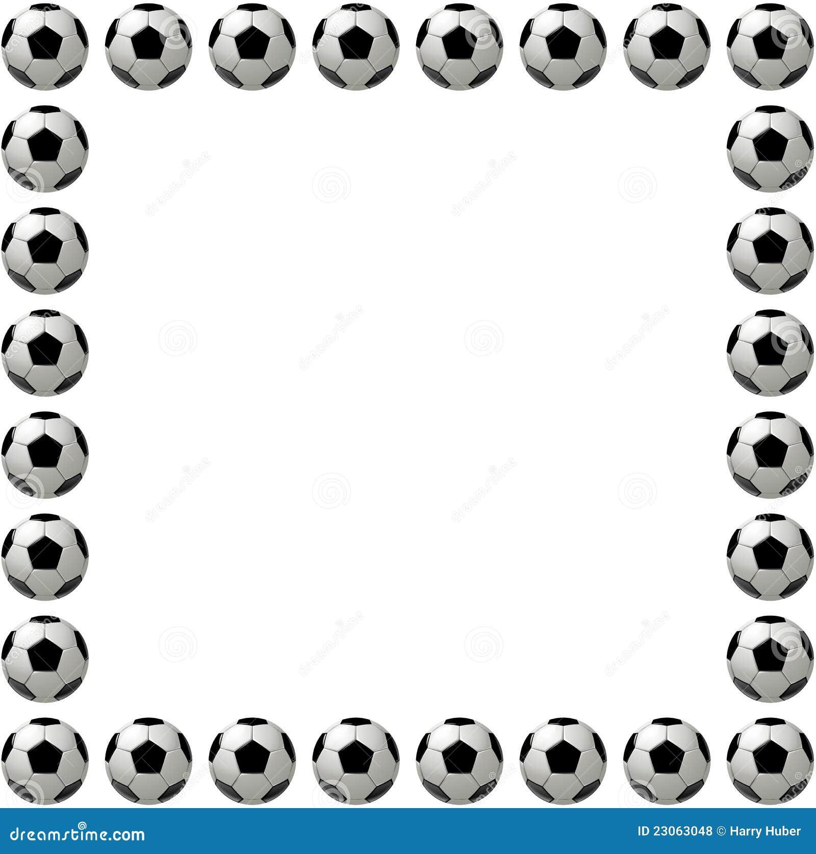 Football Border Clipart Vierkant van de voetbalbal of