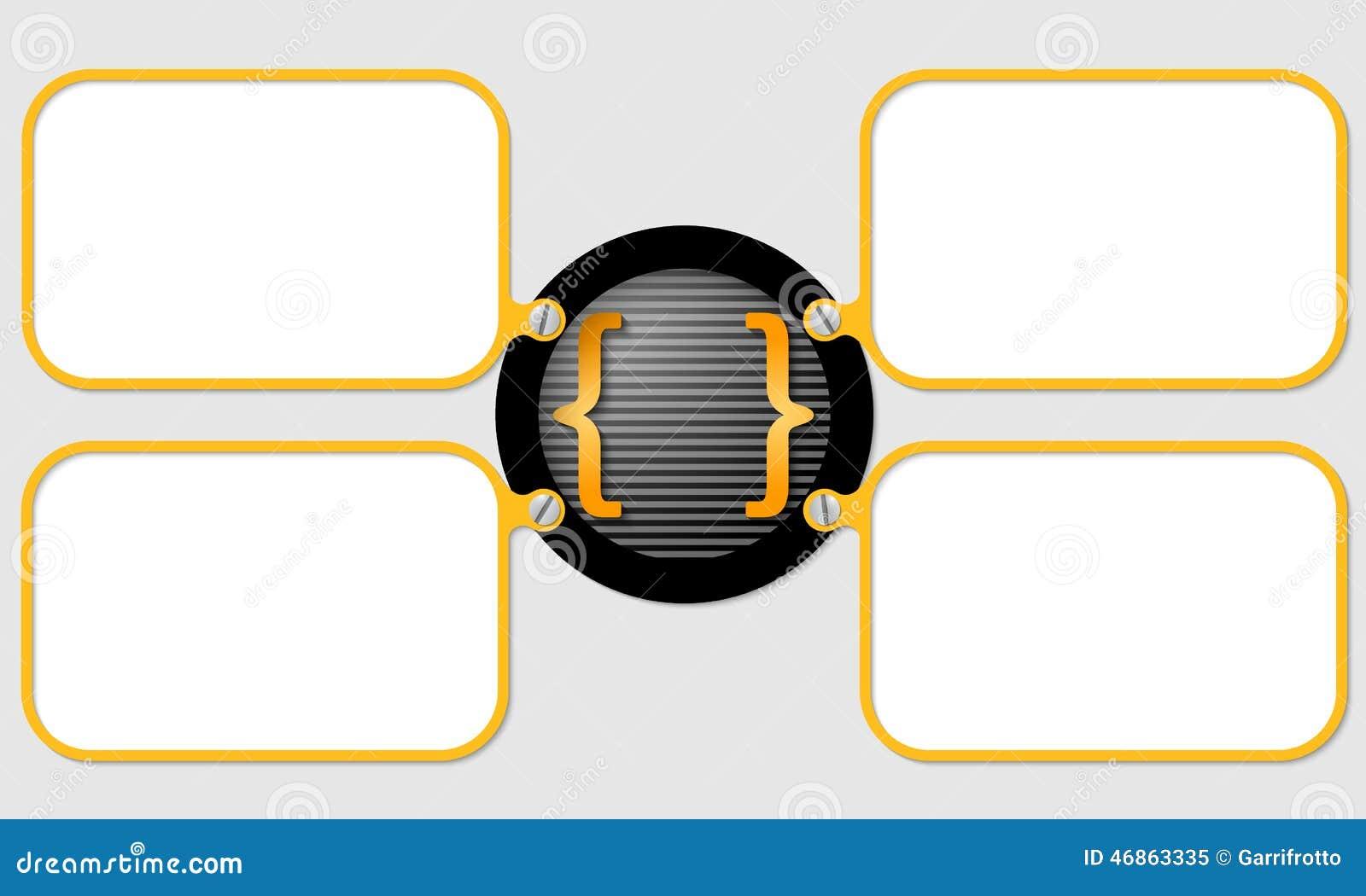 Vierkante Haakjes Vector Illustratie Illustratie Bestaande Uit