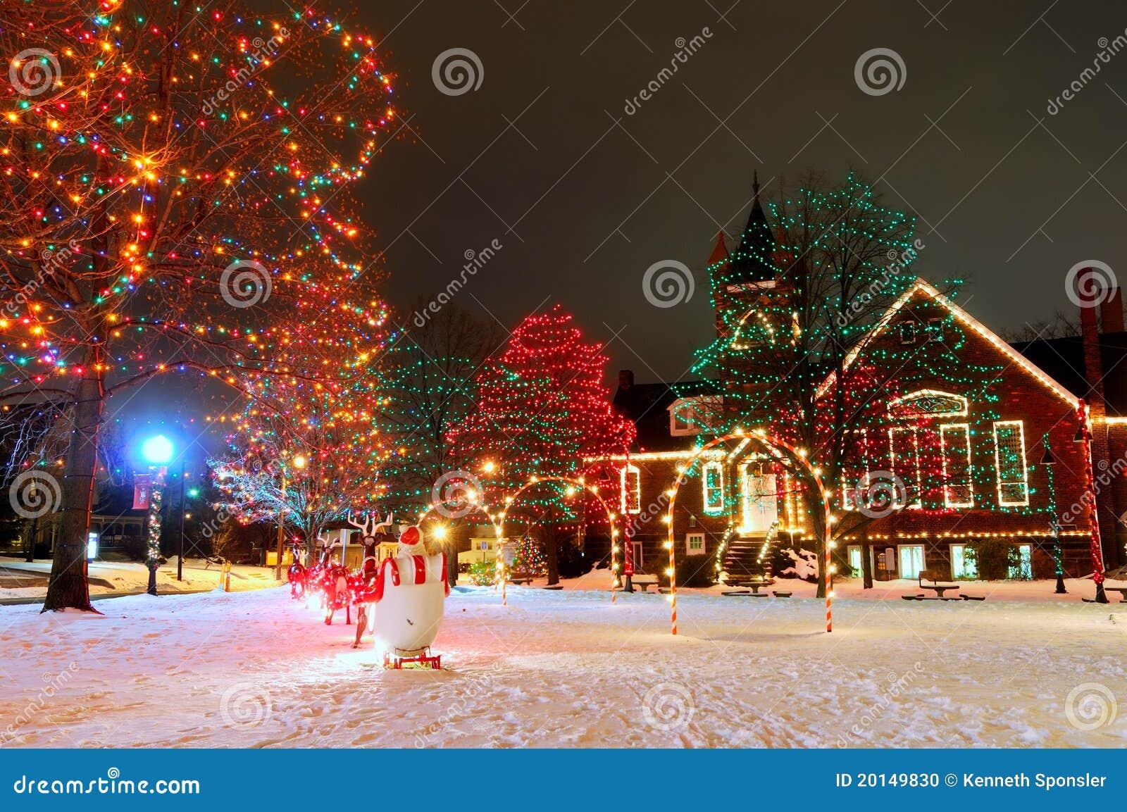 Vierkante Kerstmis van het dorp