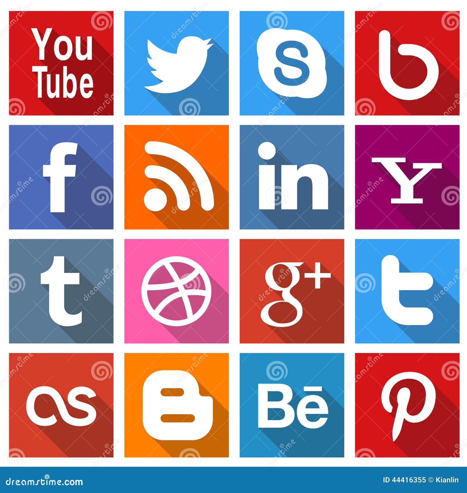 Vierkante Sociale Media pictogrammen 2