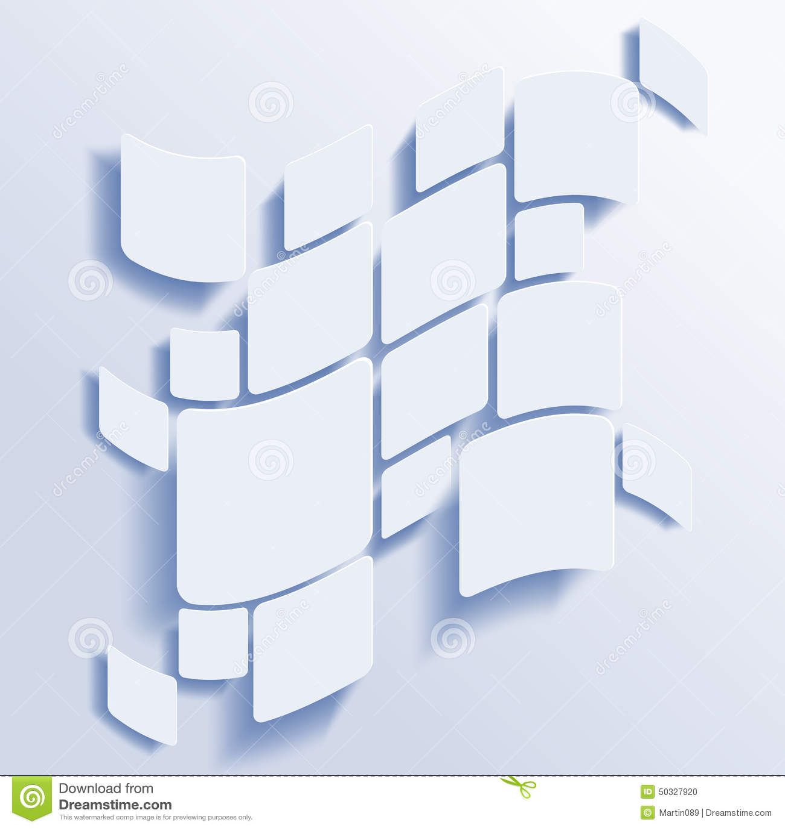 Vierkanten abstracte vectorachtergrond