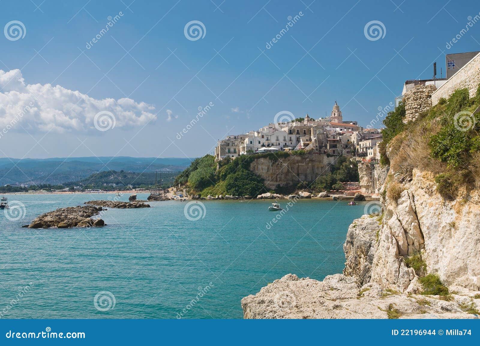 Vieste. Puglia. Italy. stock photo. Image of nature, architecture - 22196944