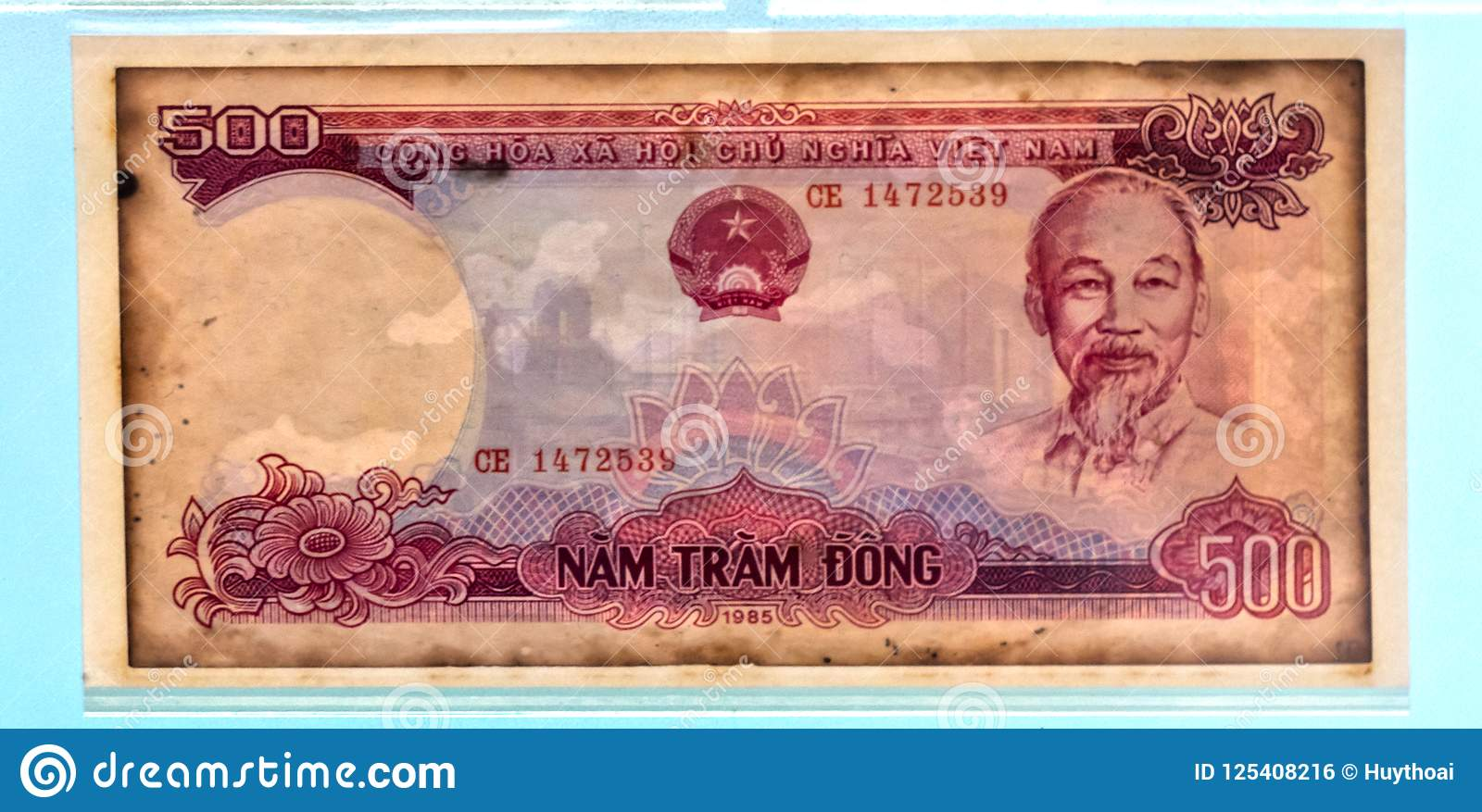 Vietnam currency banknotes editorial photo  Image of badge