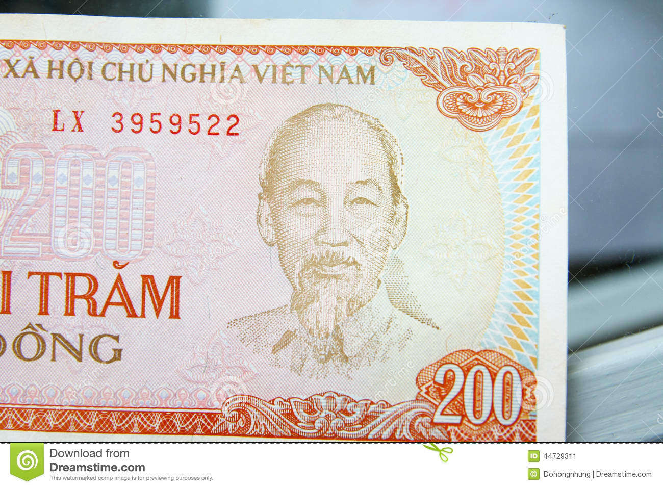 Vietnam dong- banknote paper 200$ 100$ 20$