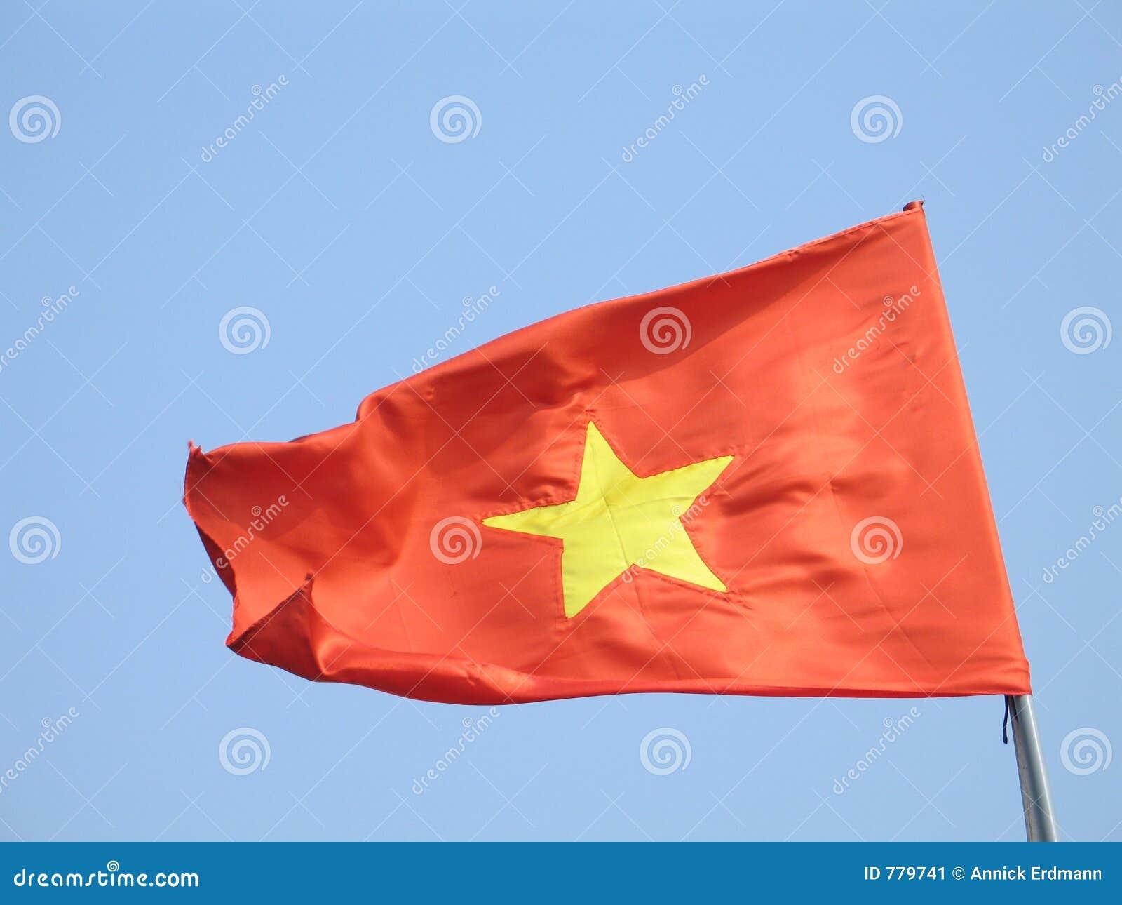 Vietnam flagga