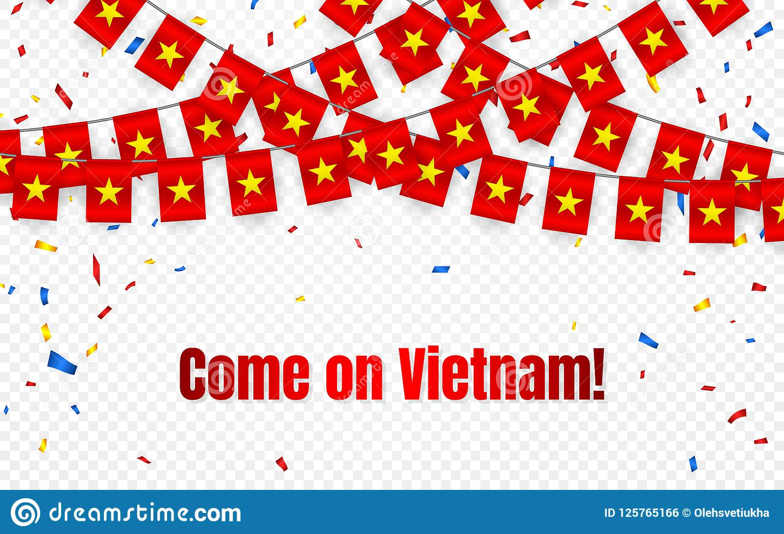 Vietnam Garland Flag With Confetti On Transparent Background Hang Bunting For Celebration Template Banner Vector Illustration Stock Vector Illustration Of Holiday Celebrate 125765166