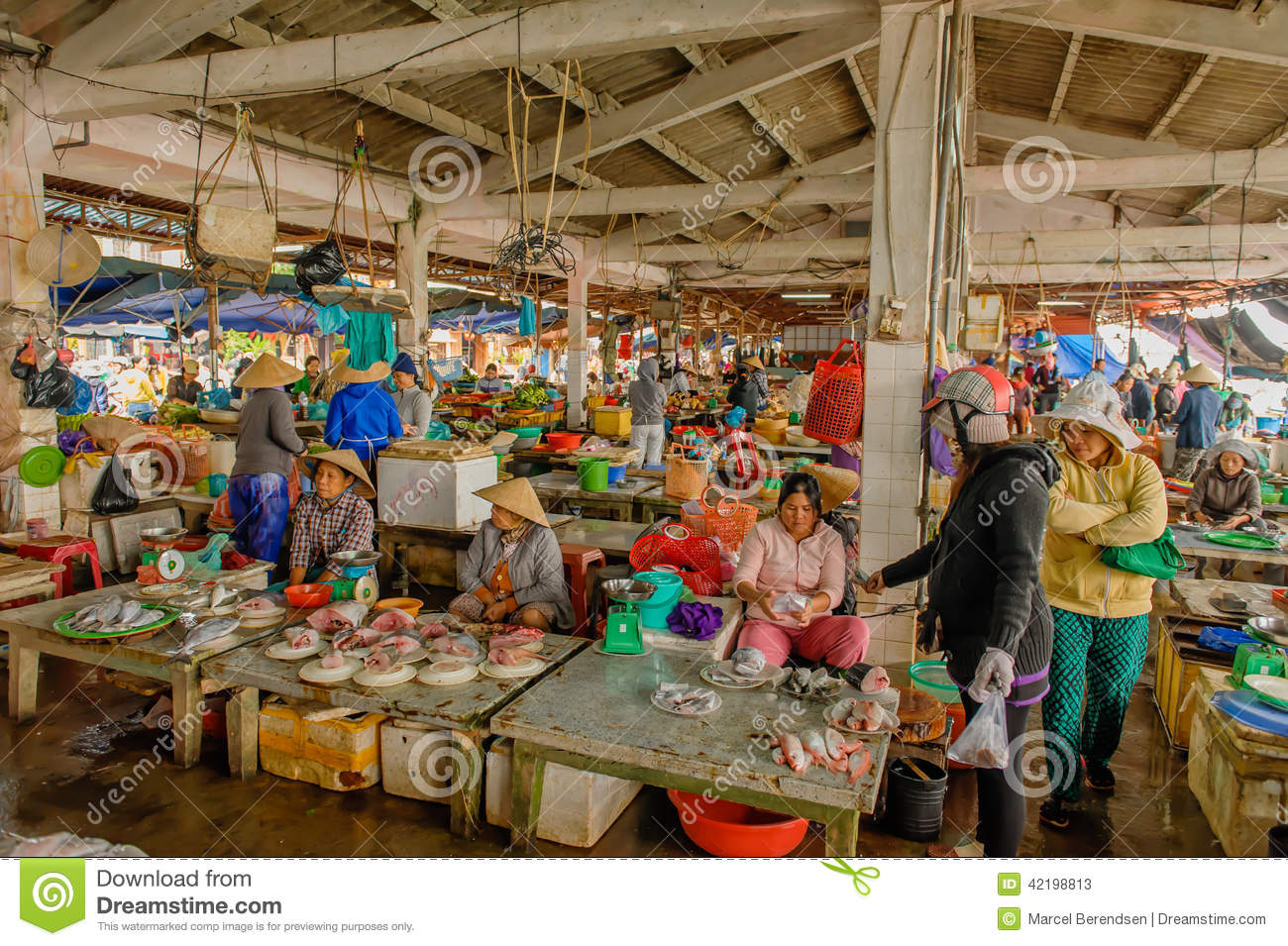 Vietnam hoi an editorial stock photo image 42198813 for Local fish market