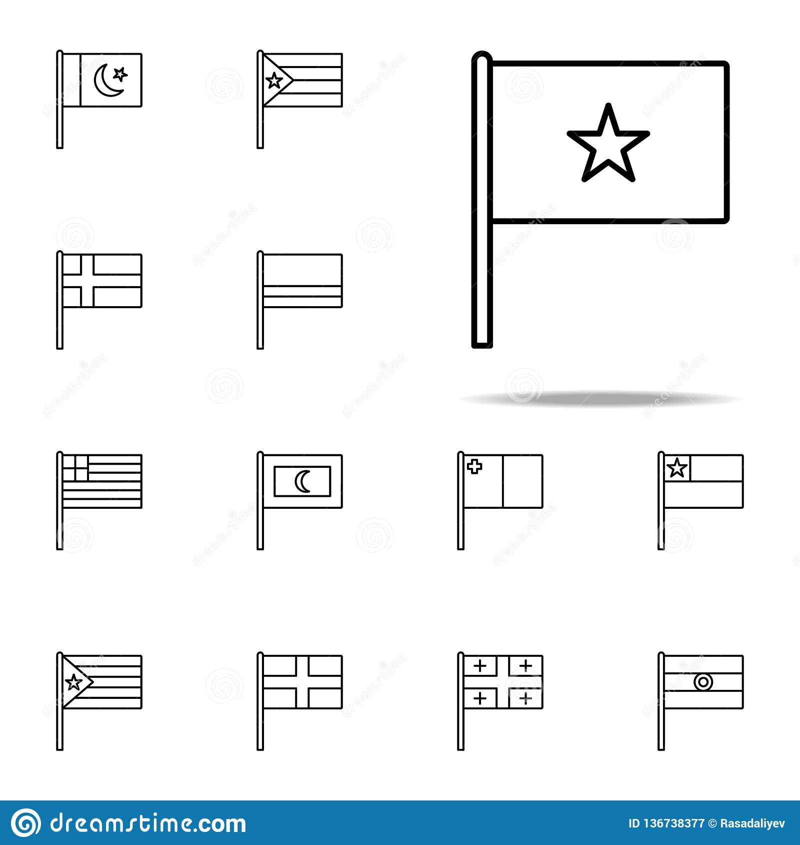 Vietnam icon. flags icons universal set for web and mobile