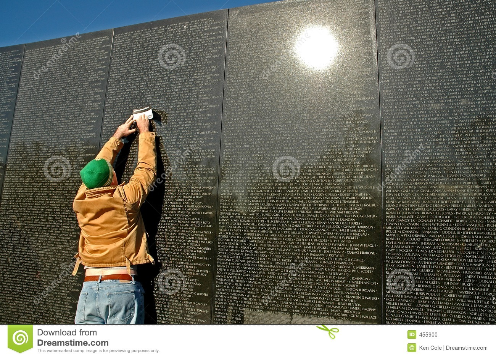 Vietnam Memorial Wall Rubbing