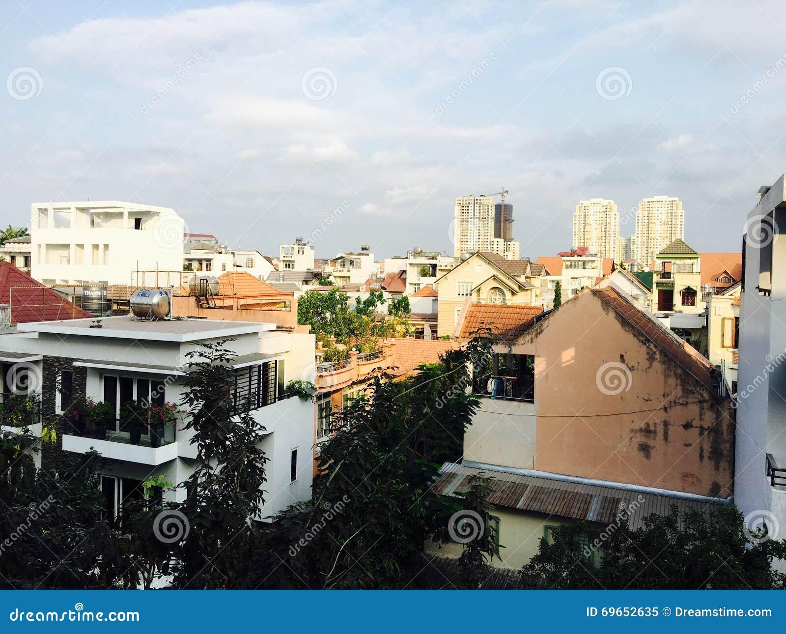 Vietnam-Skylinegebäude