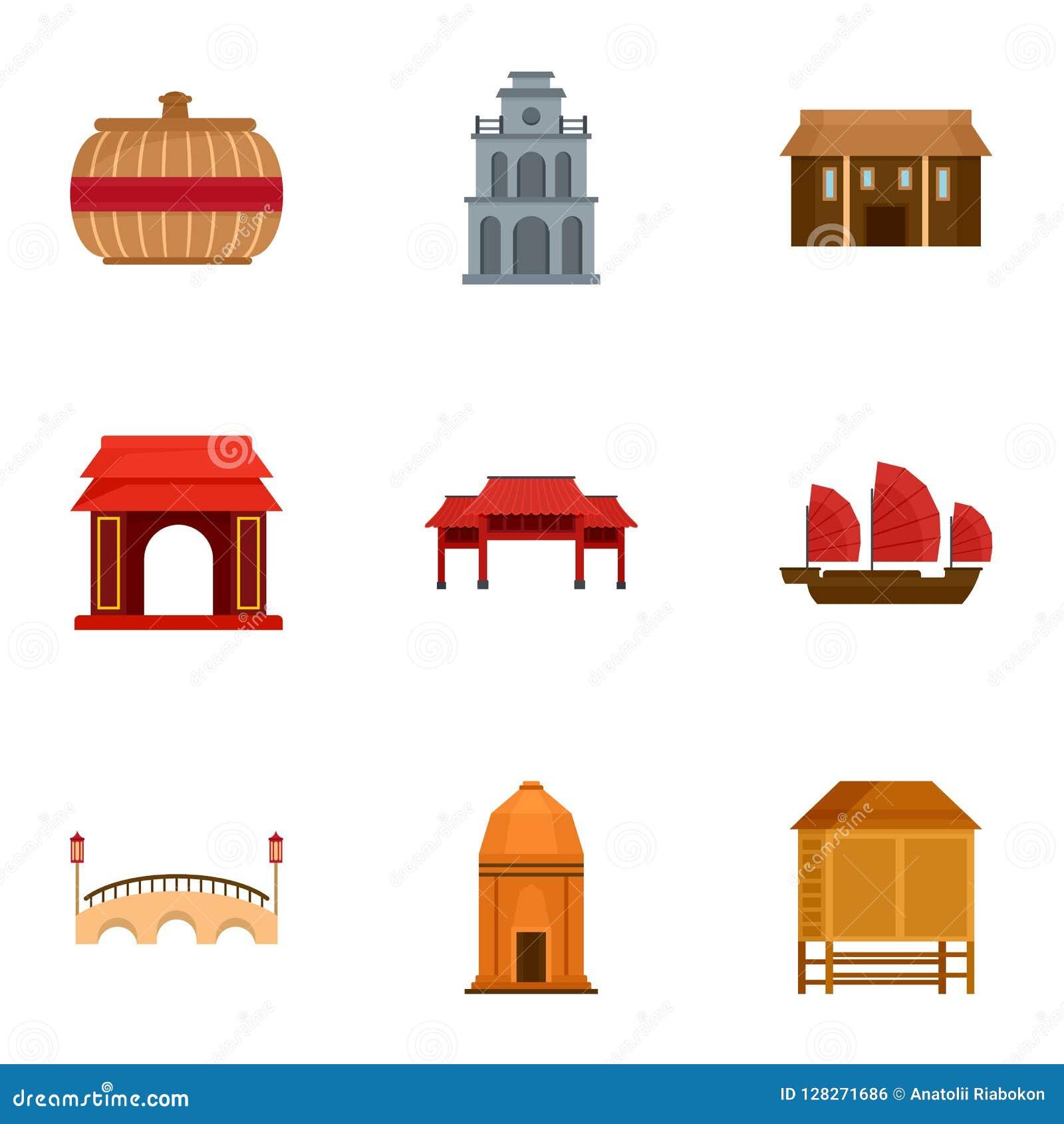 Vietnam symbolsuppsättning, lägenhetstil