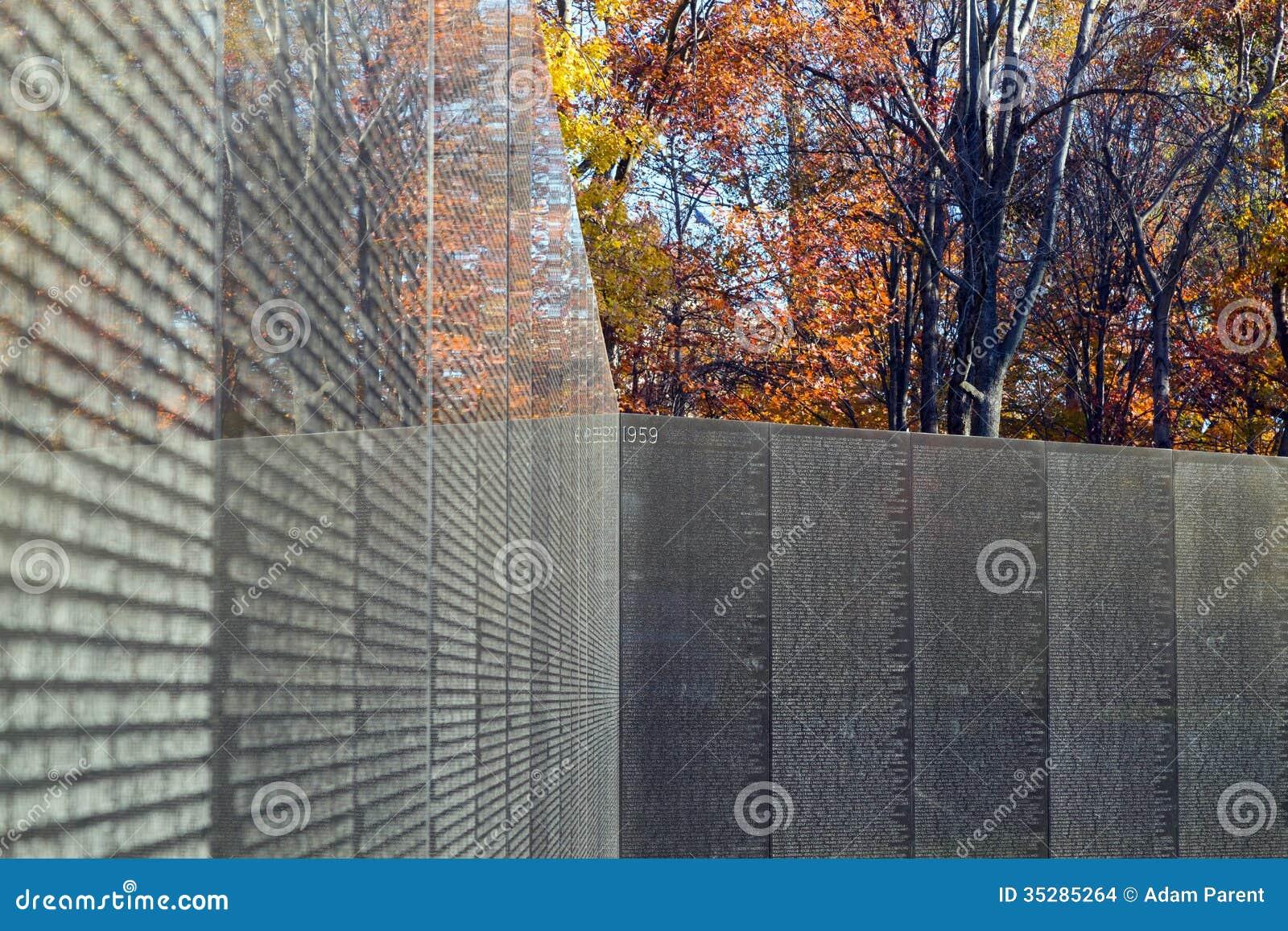 Vietnam Veterans Memorial Wall Editorial Stock Image