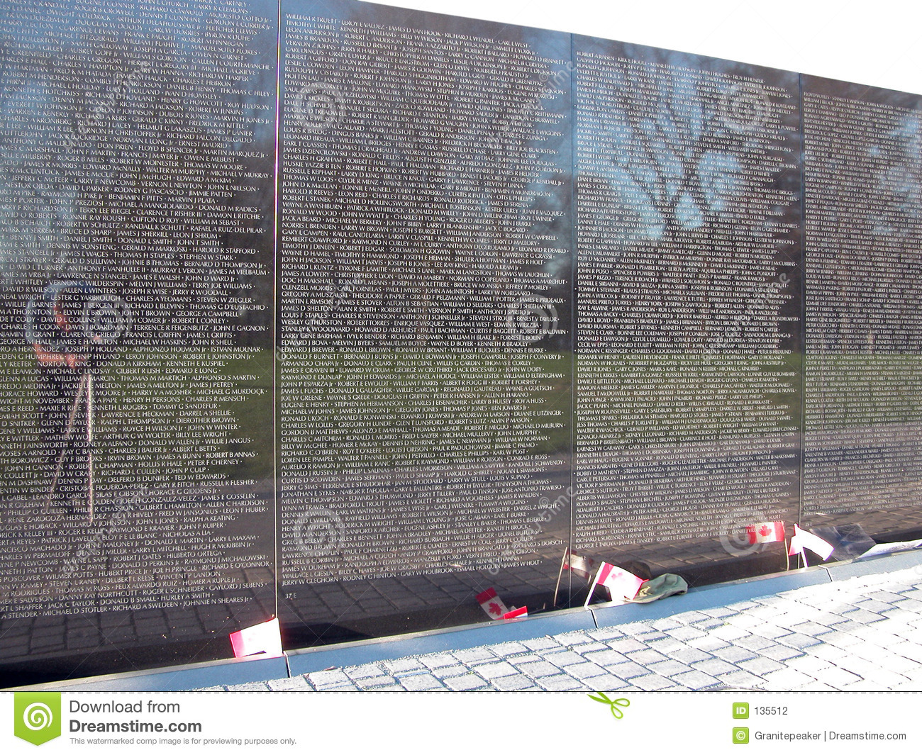 Vietnam Wall : Vietnam Wall Memorial Stock Photography - Image: 135512