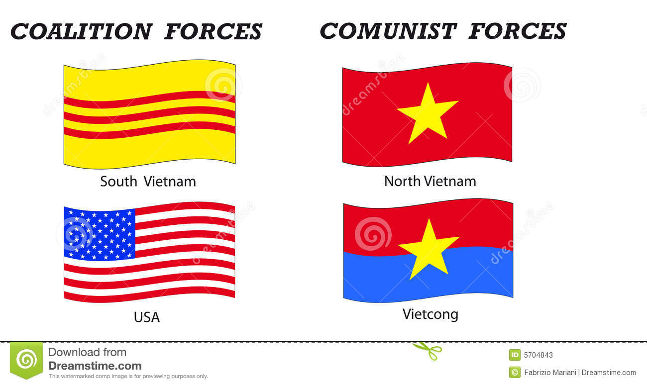 Vietnam War Flags And Coalitions Stock Photos - Image: 5704843