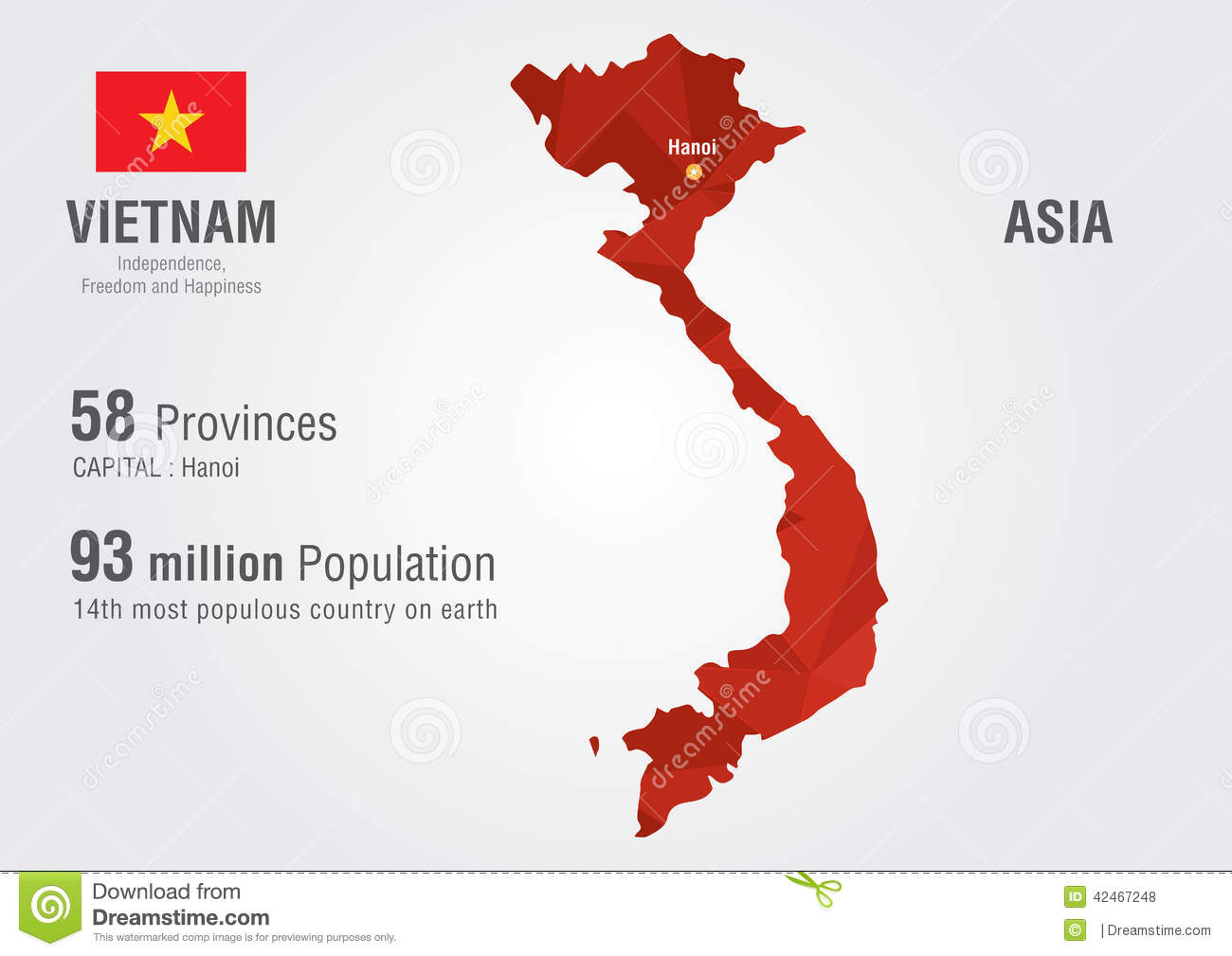 Vietnam World Map With A Pixel Diamond Texture. Stock Vector ...