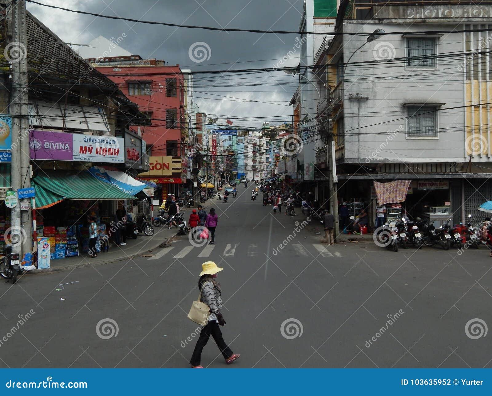 Vietname, ruas da cidade de Dalat