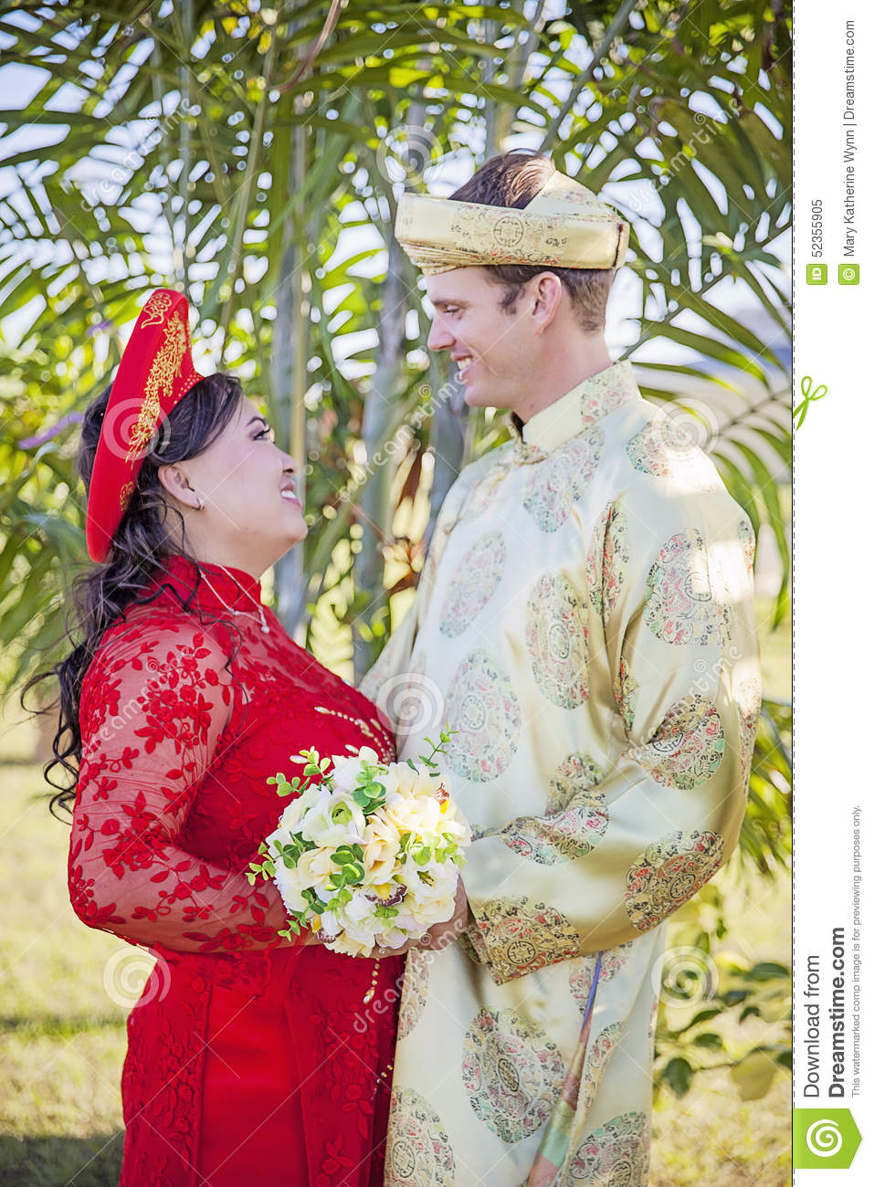 Vietnamese American Wedding Ceremony Stock Image - Image of detail ...