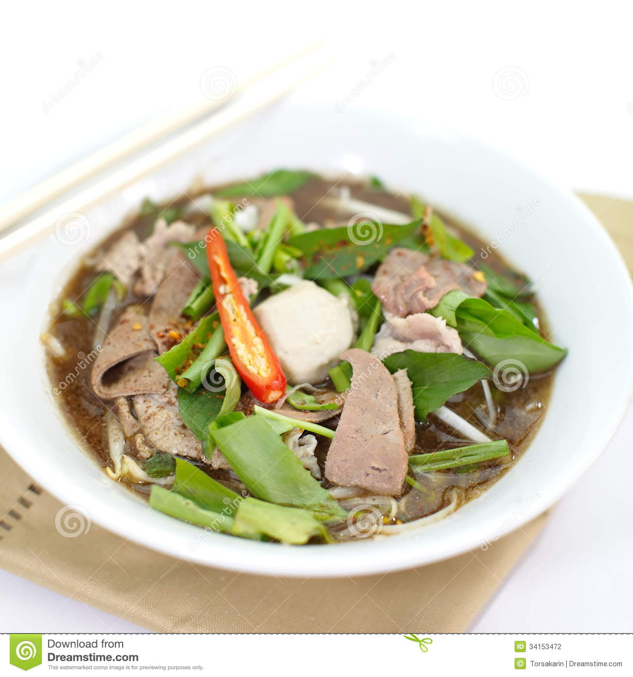 Vietnamese Beef Noodle Soup Stock Photography - Image: 34153472