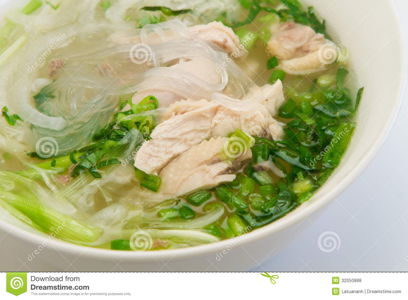 Chicken Glass Noodle Soup