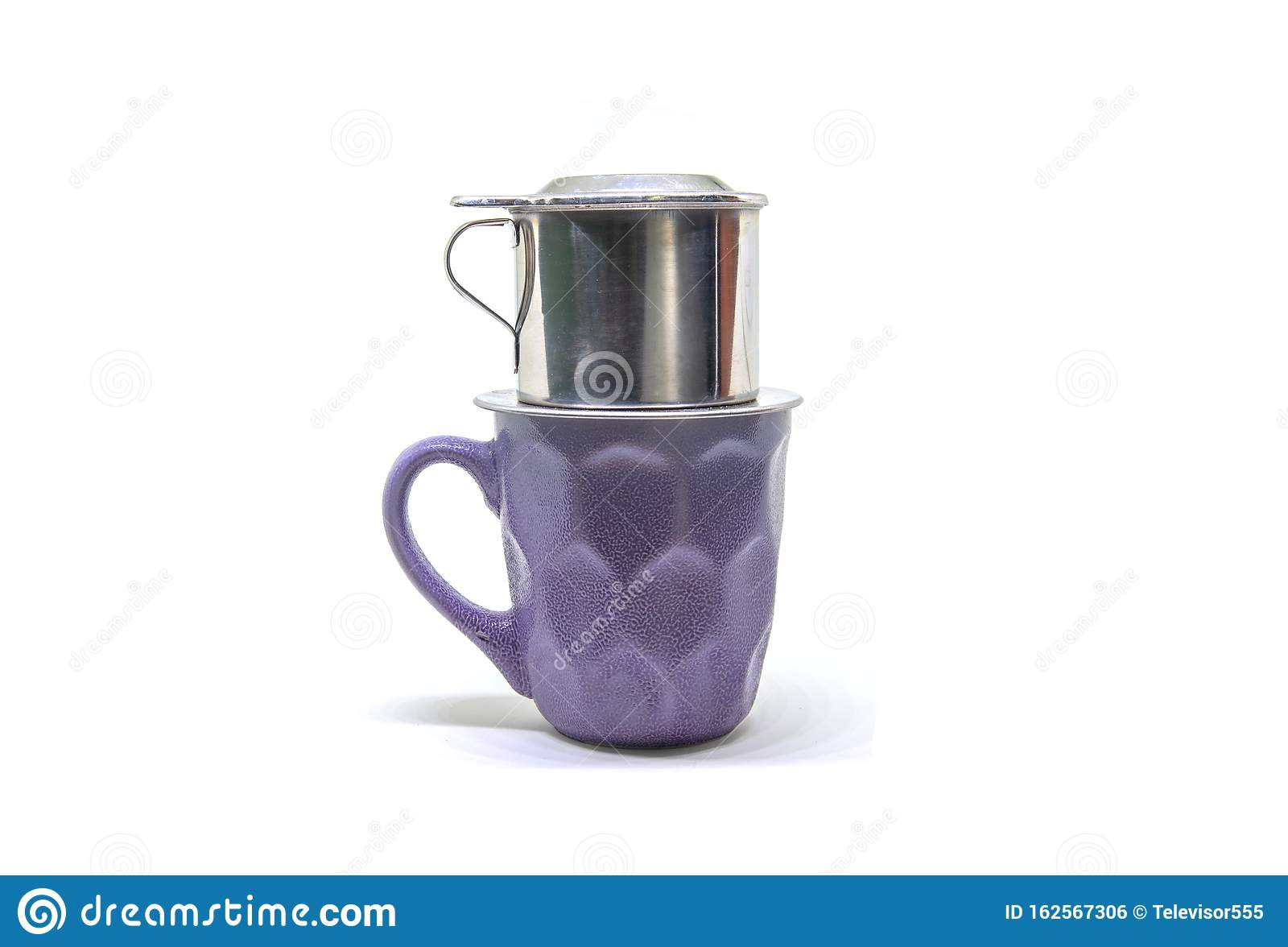Vietnamese Coffee Filter On Ceramic Cup Coffee Filter On White Background Vietnam Style Coffee Brewing Stock Photo Image Of Asian Ceramic 162567306