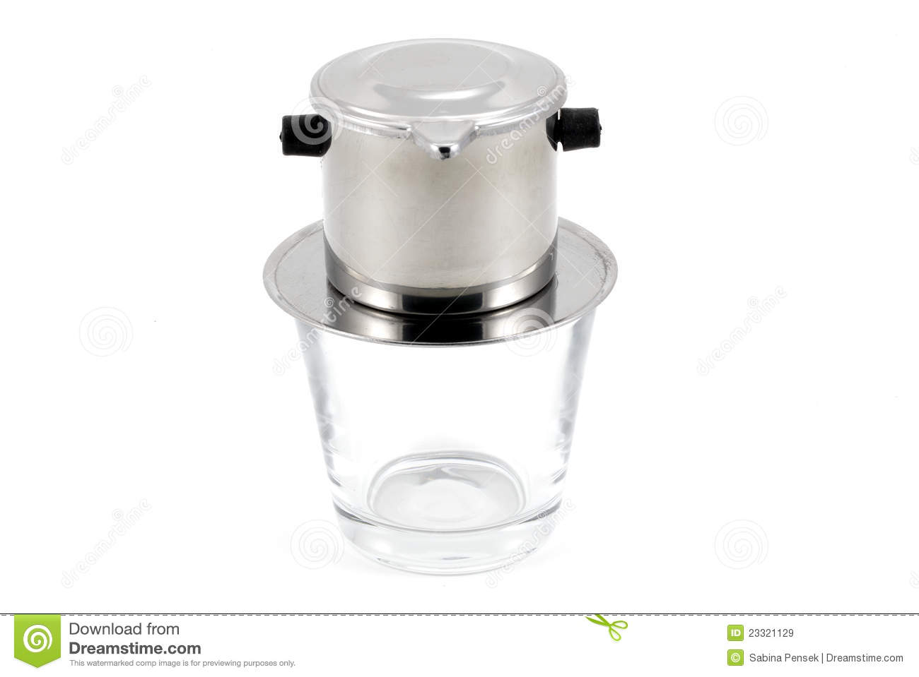 Vietnamese Drip Coffee Filter On White Background Royalty Free Stock Images - Image: 23321129