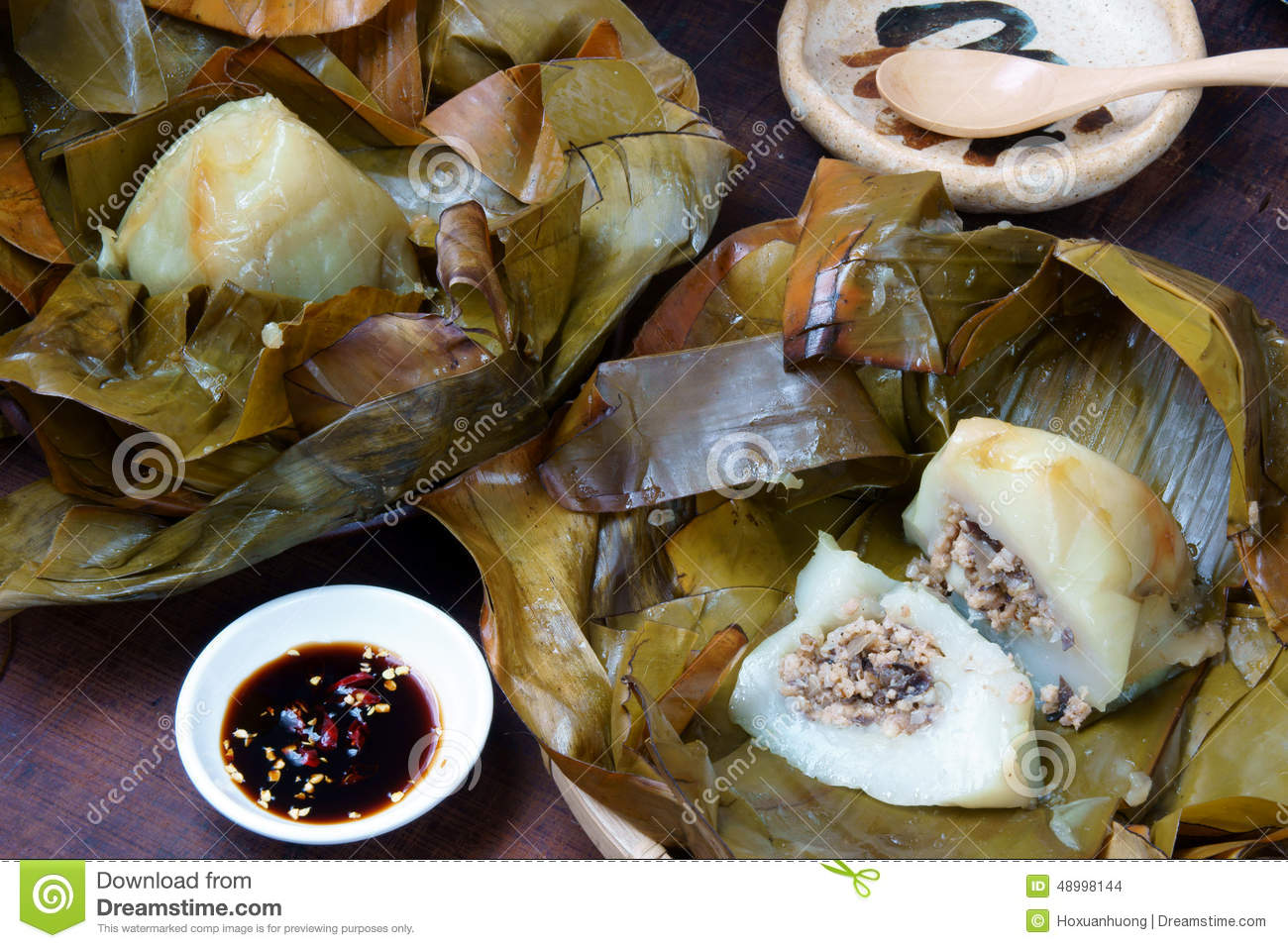 Vietnamese Food Pyramid Rice Dumpling Stock Photo Image