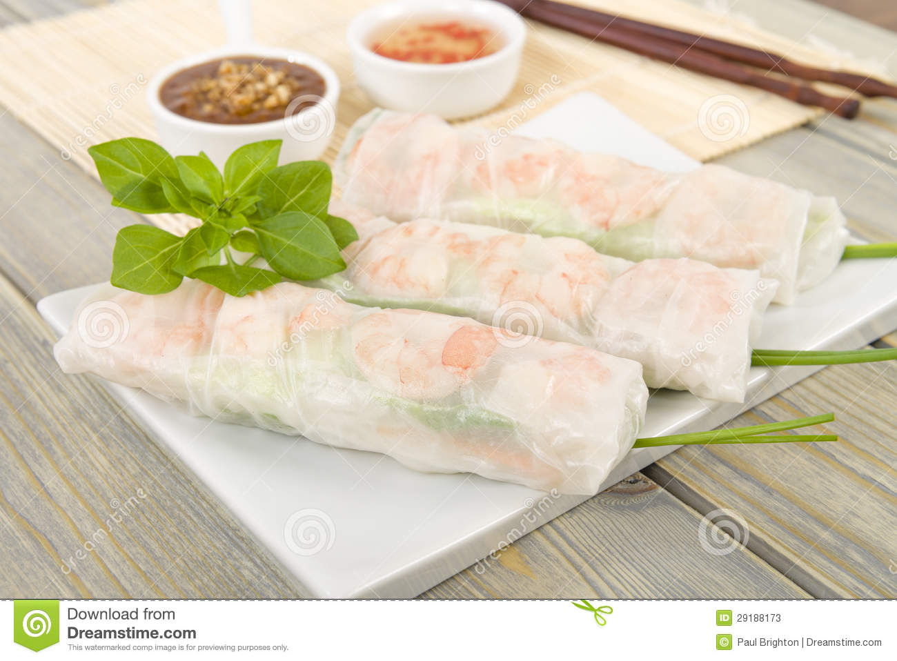 Goi Cuon (Vietnamese Fresh Spring Rolls) With Hoisin Peanut Dipping ...