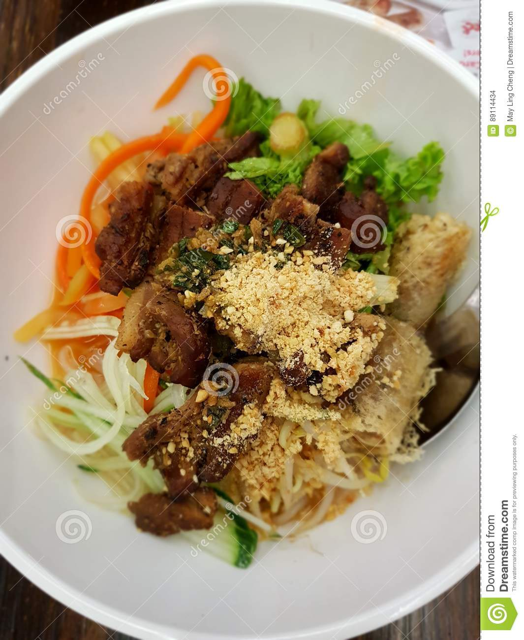 Vietnamese Grilled Pork With Rice Vermicelli