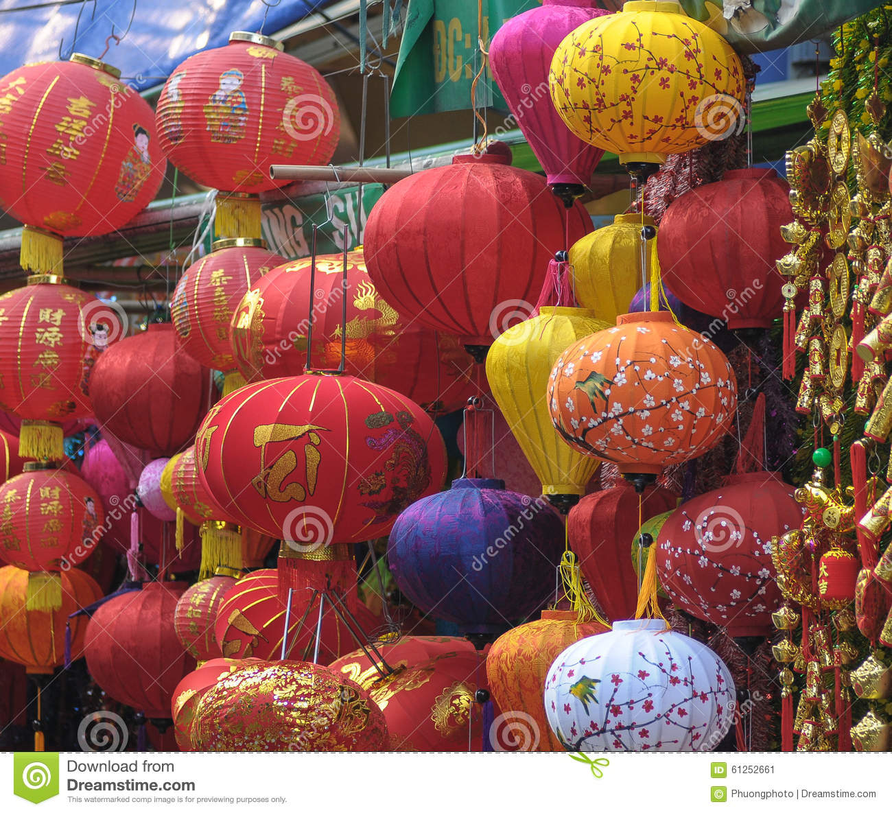 Vietnamese People Sell Tet Decorations Editorial Photo ...